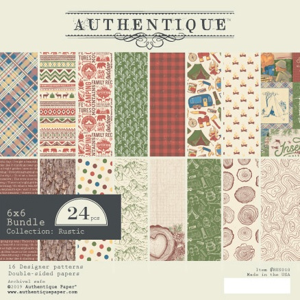 Authentique Double-Sided Cardstock Pad 6X6 24/Pkg-Rustic, 8 Designs/3 Each