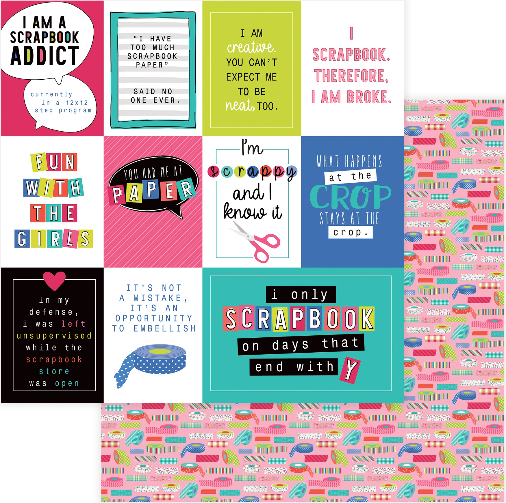 You Had Me At Paper Double-Sided Cardstock 12X12-Scrapbook Addict