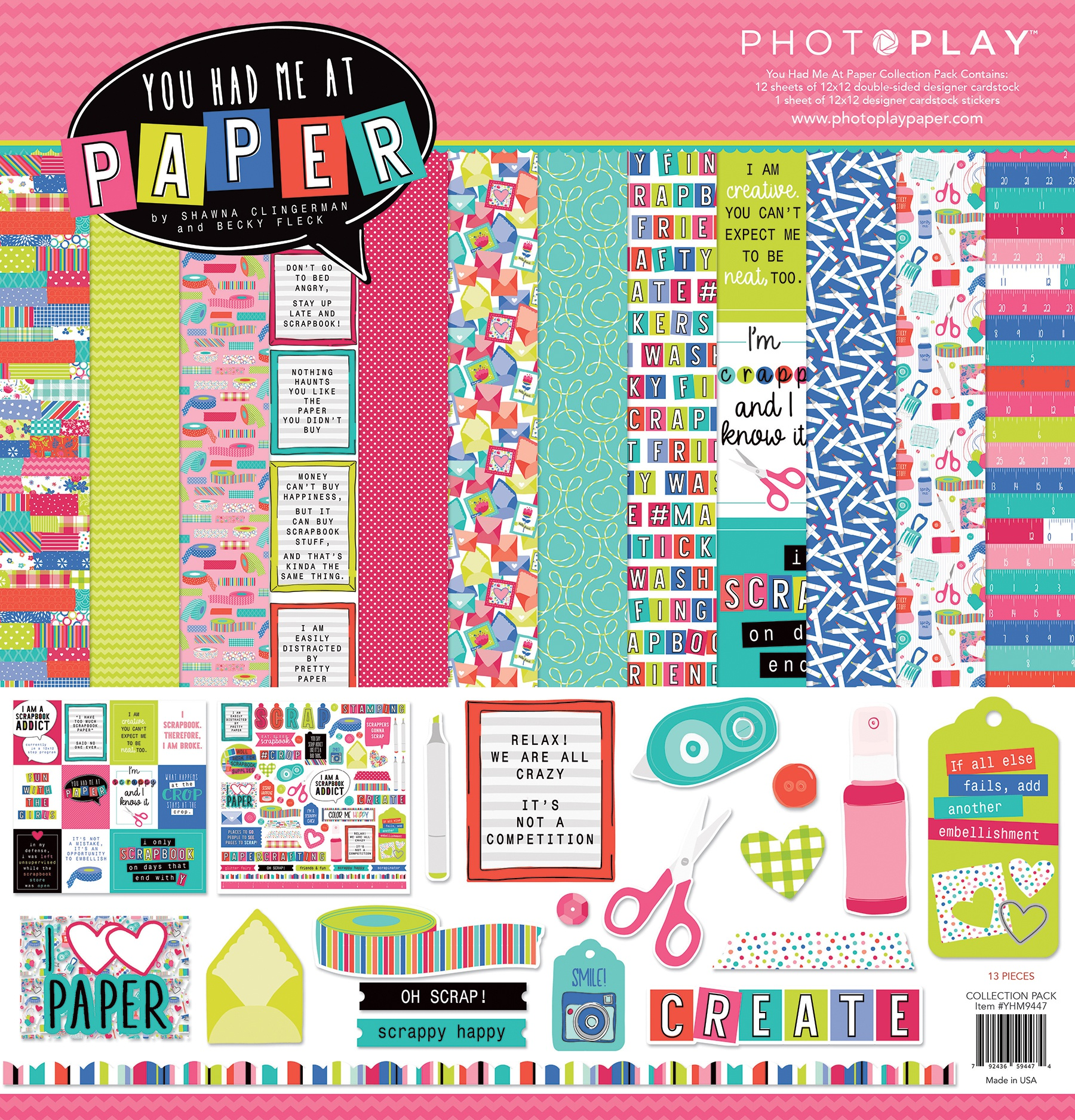 PhotoPlay Collection Pack 12X12-You Had Me At Paper
