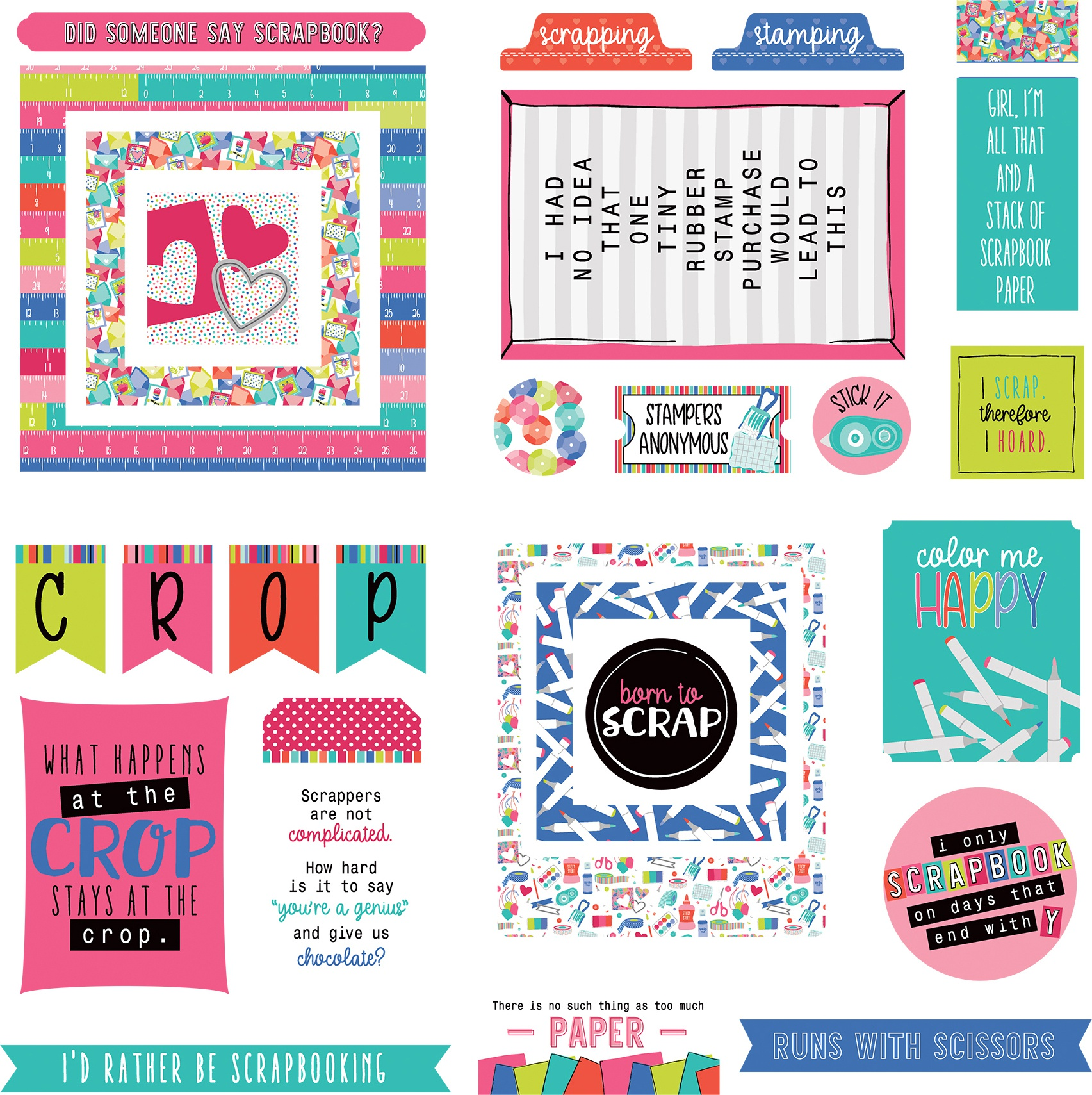 You Had Me At Paper Ephemera Cardstock Die-Cuts-