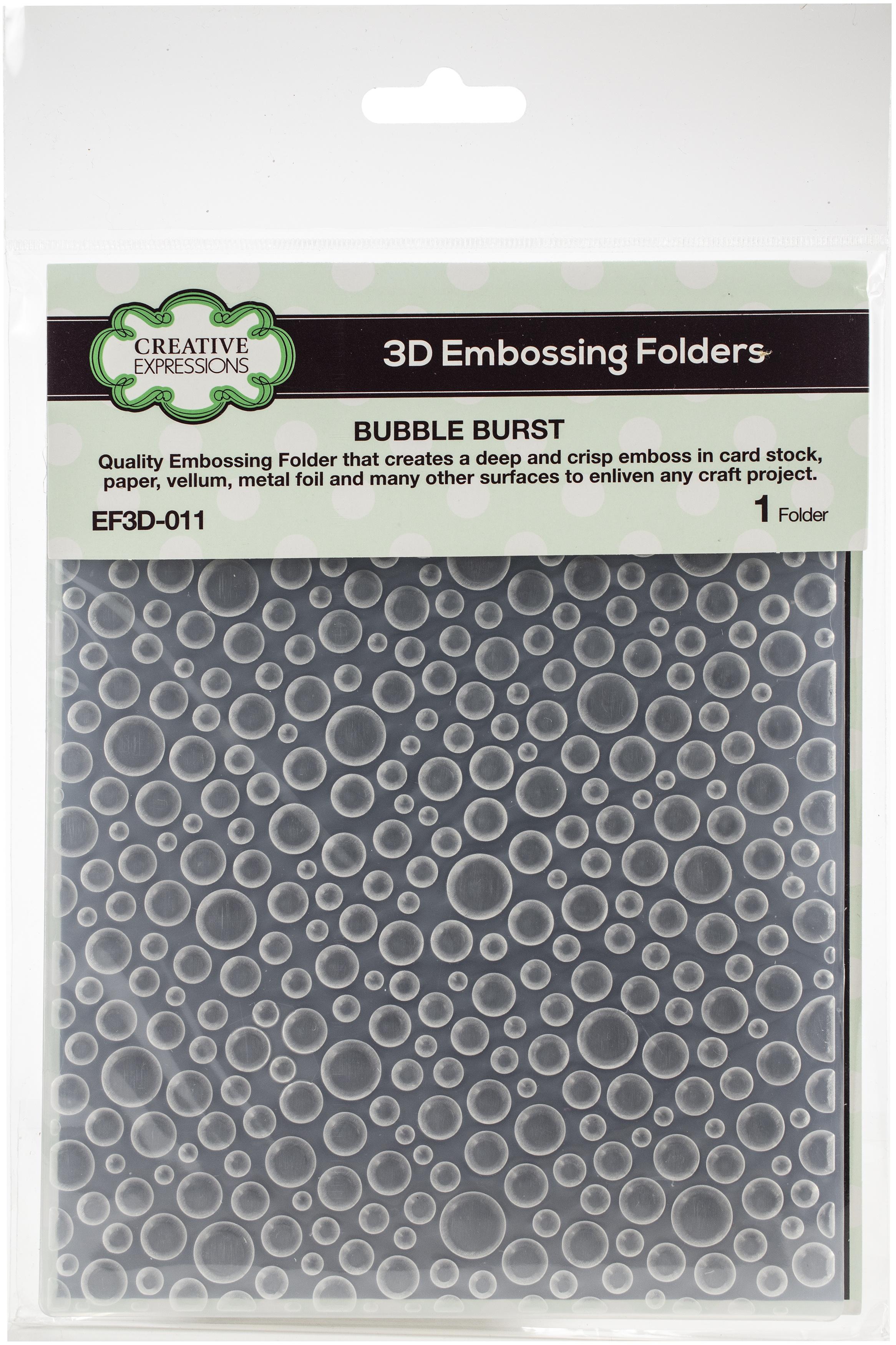 Creative Expressions 3D Embossing Folder 5.75X7.5-Bubble Burst