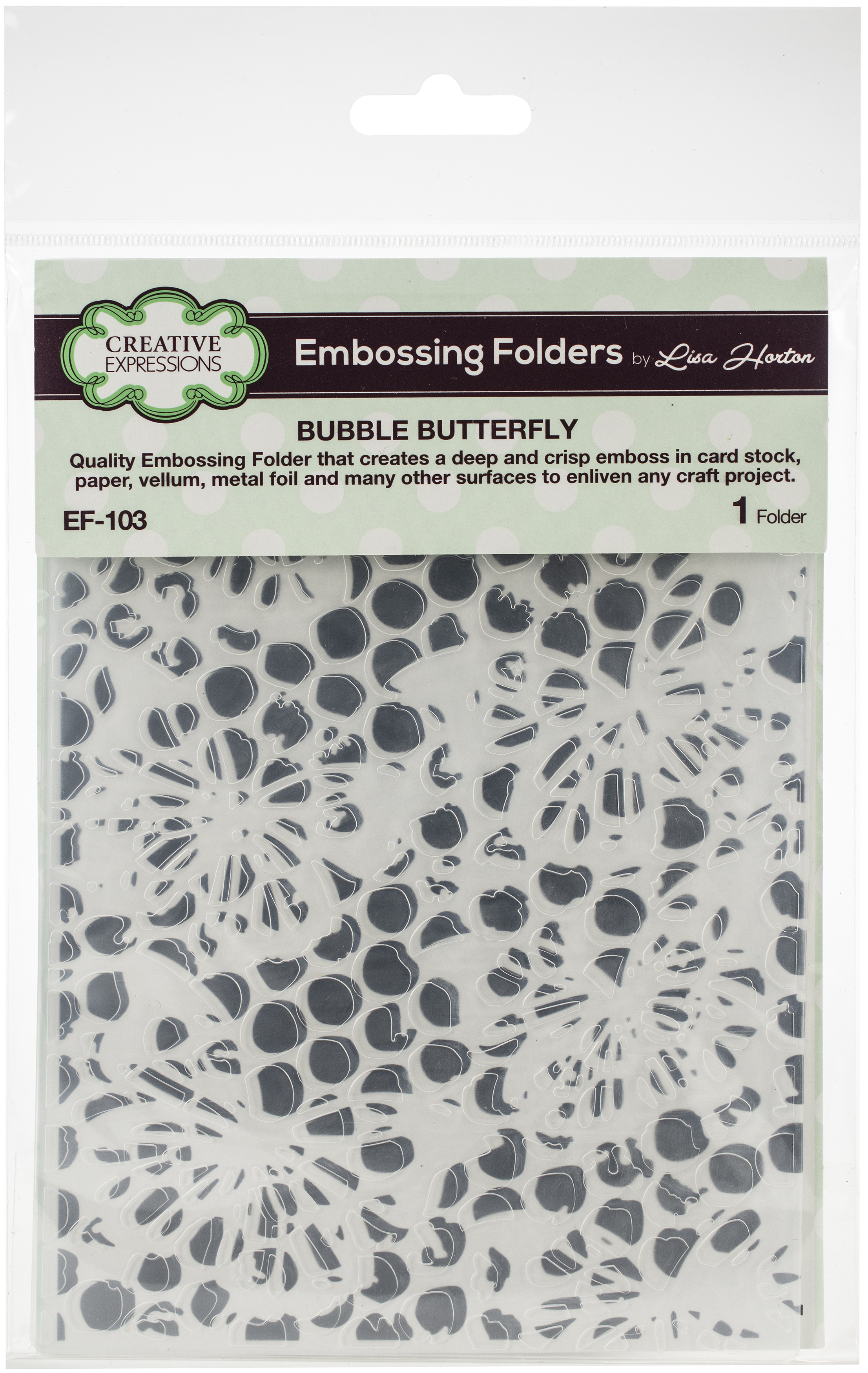 Creative Expressions Embossing Folder 5X7-Bubble Butterfly