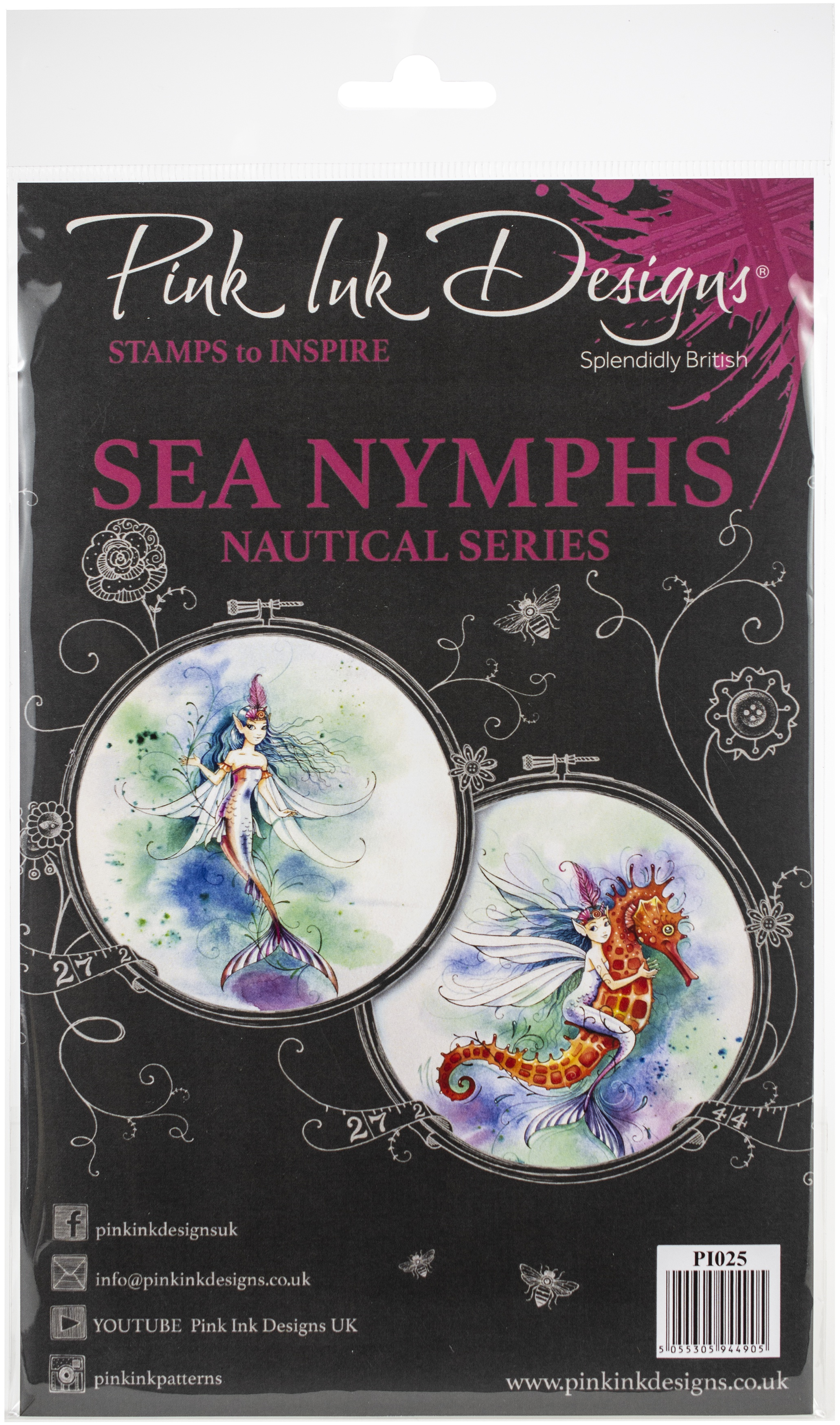 Pink Ink Designs A5 Clear Stamp Set-Sea Nymphs