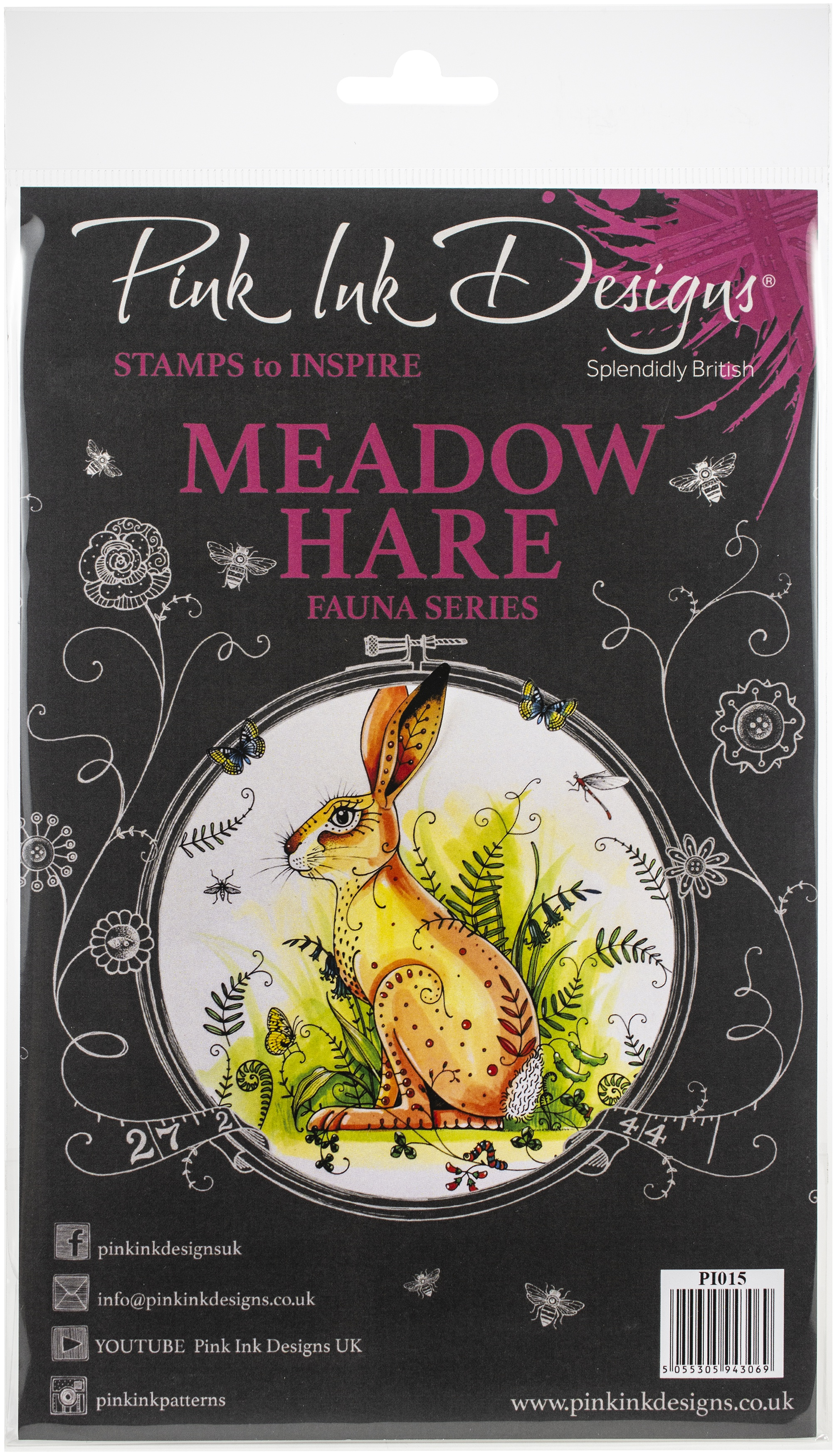 Pink Ink Designs A5 Clear Stamp Set-Meadow Hare