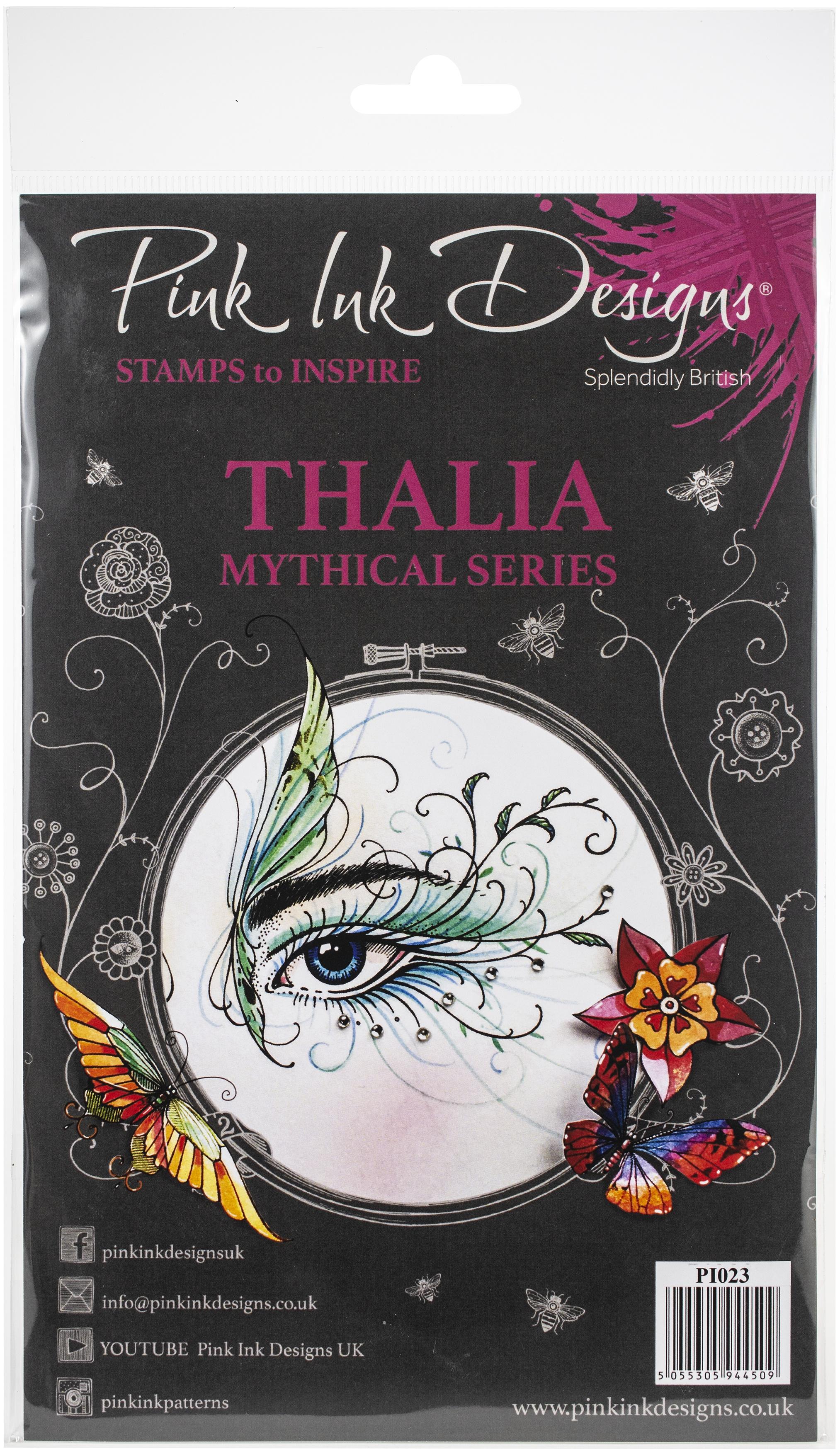 Pink Ink Designs A5 Clear Stamp Set-Thalia