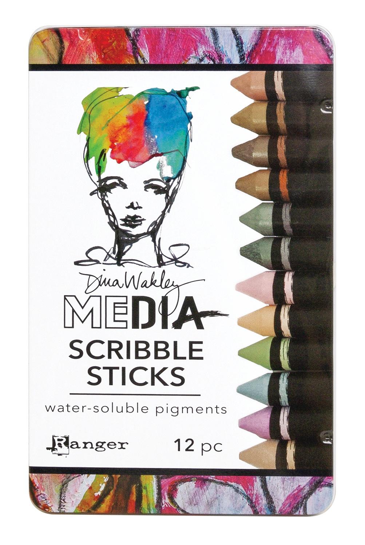 Dina Wakley Media Scribble Sticks #3
