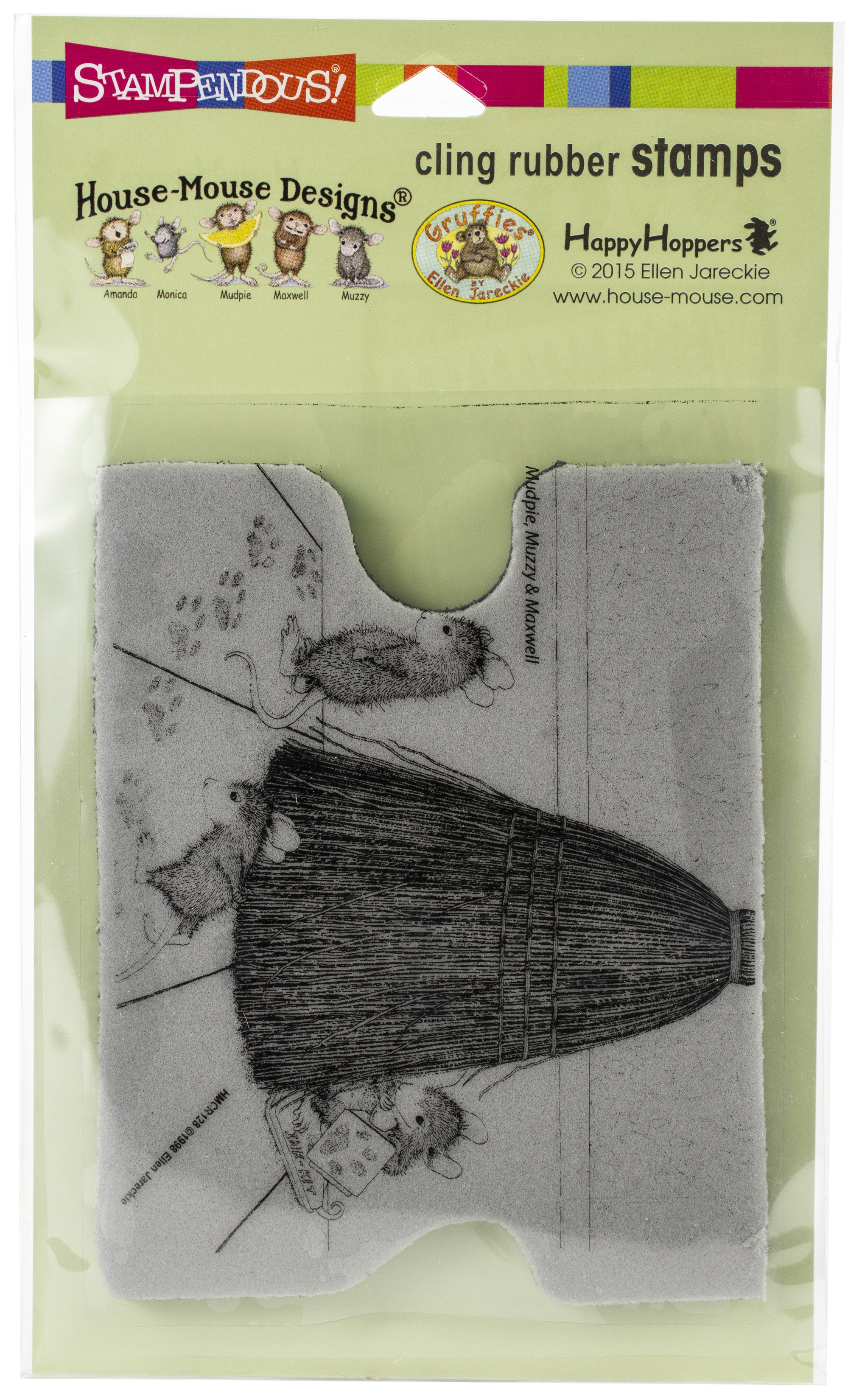 Stampendous House-Mouse Cling Stamp- Cat Tracking