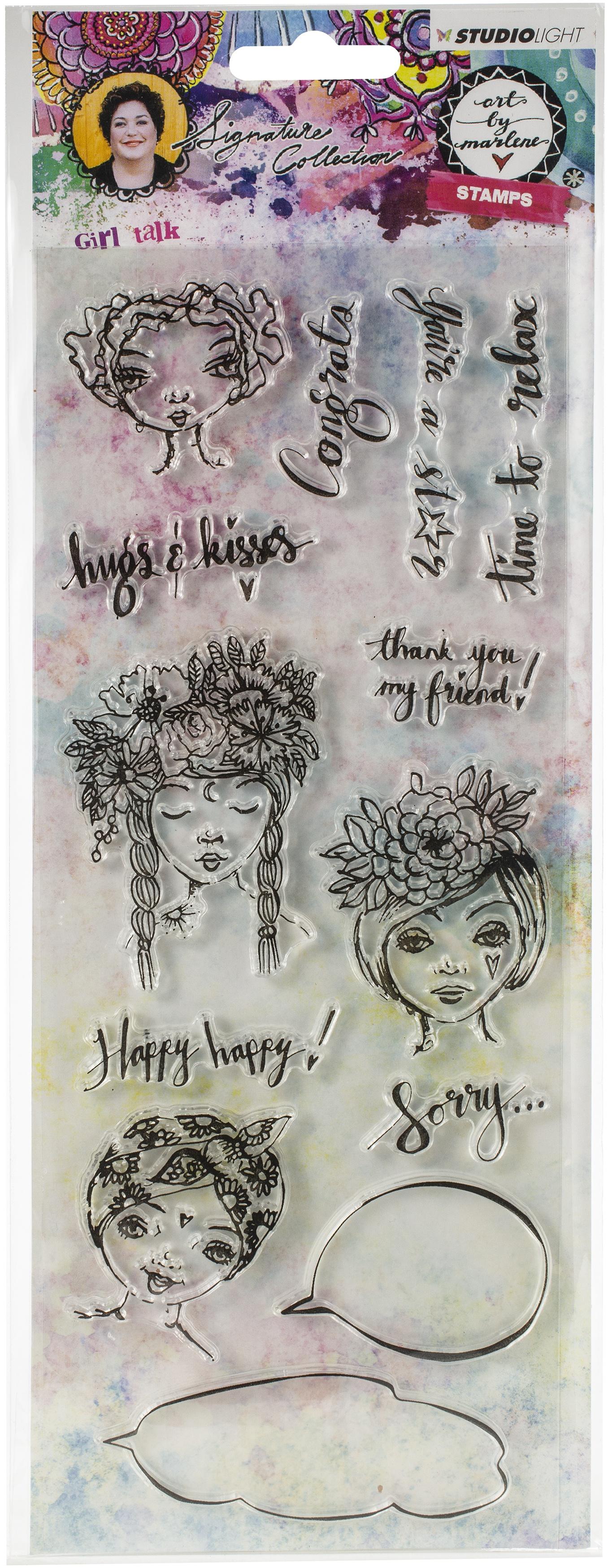 Studio Light Art By Marlene 3.0 Stamps-NR. 33, Girl Talk