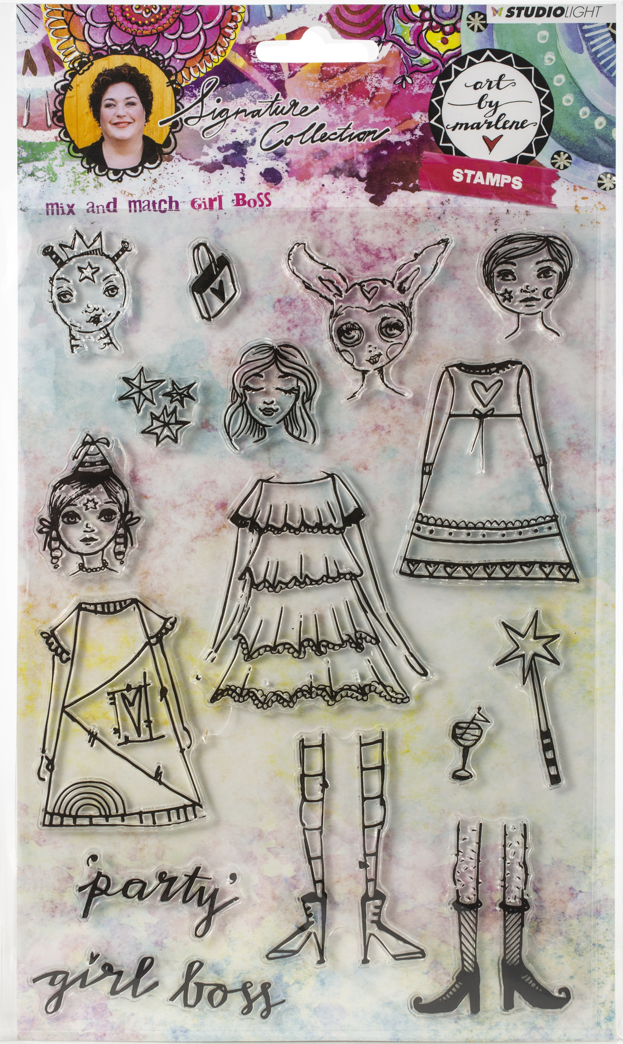 Studio Light Art By Marlene 3.0 Stamps-NR. 36, Girl Boss