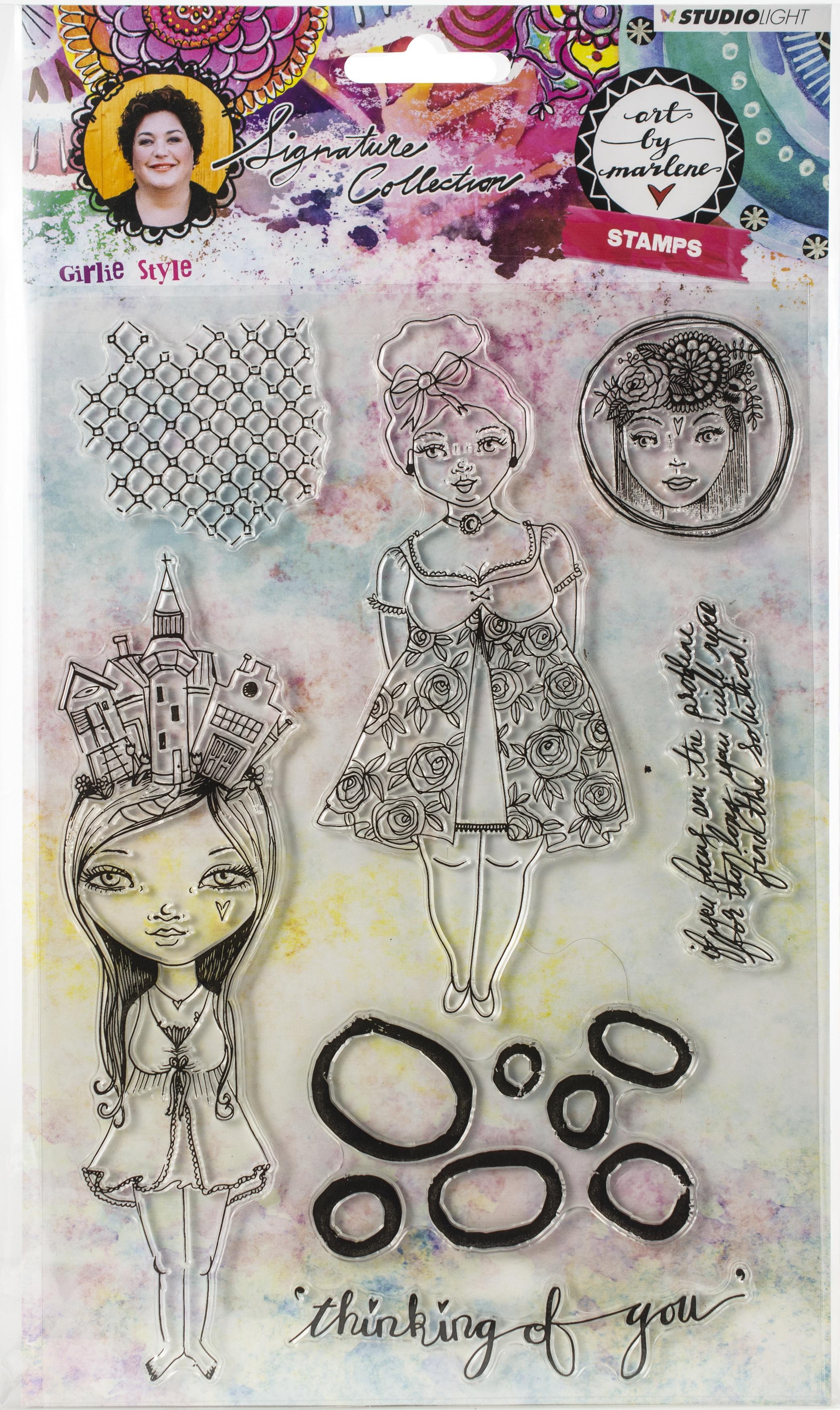 Studio Light Art By Marlene 3.0 Stamps-NR. 37, Girlie Style