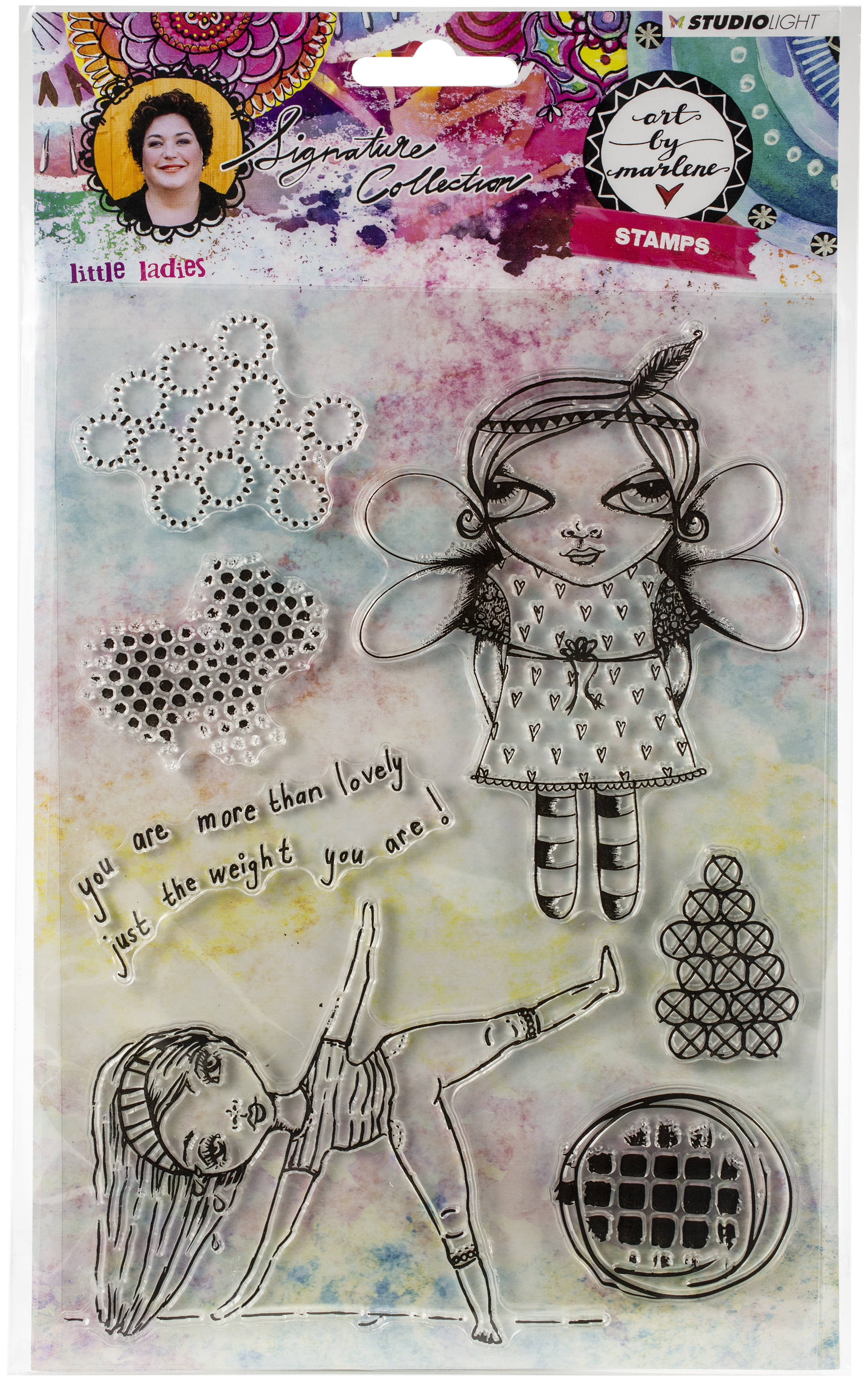 Studio Light Art By Marlene 3.0 Stamps-NR. 38, Little Ladies
