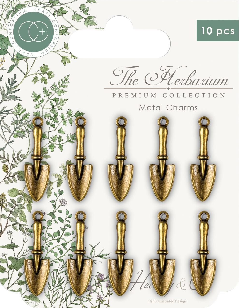 Craft Consortium - The Herbarium Metal Charms: Brass Trowels