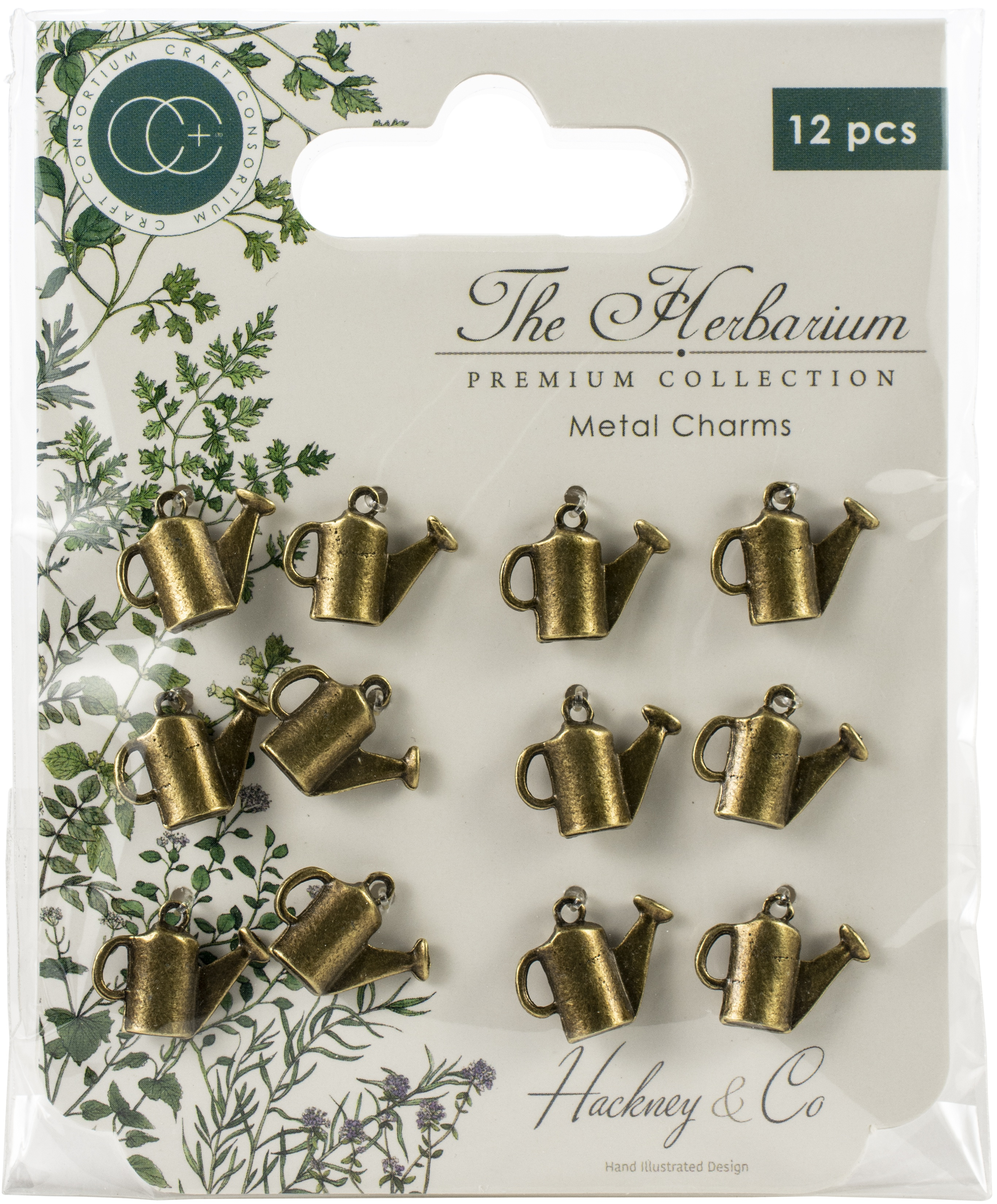 Craft Consortium - The Herbarium Metal Charms: Brass Watering Can