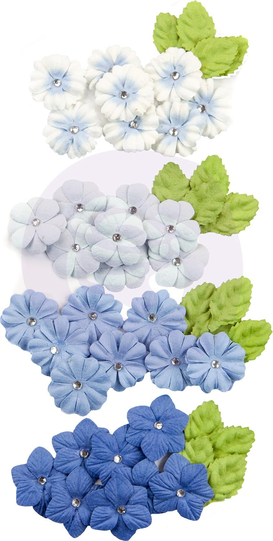 Prima Marketing Mulberry Paper Flowers  -Camarillo/Golden Coast, 48/Pkg