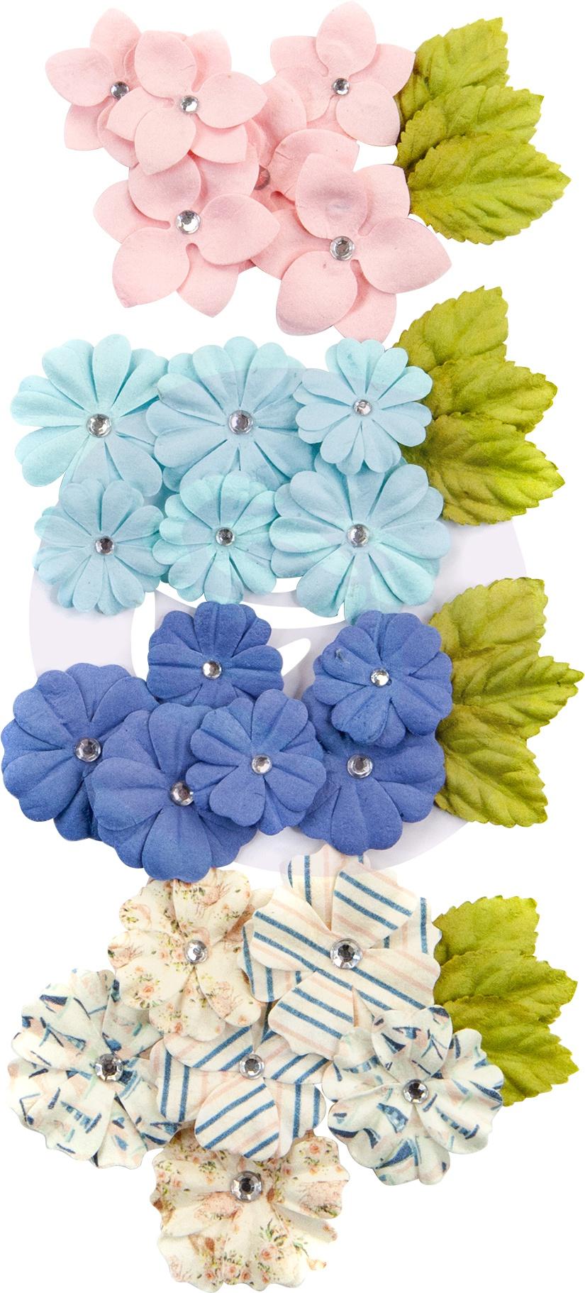 Prima - Mulberry Paper Flowers  - Del Mar/Golden Coast, 36/Pkg
