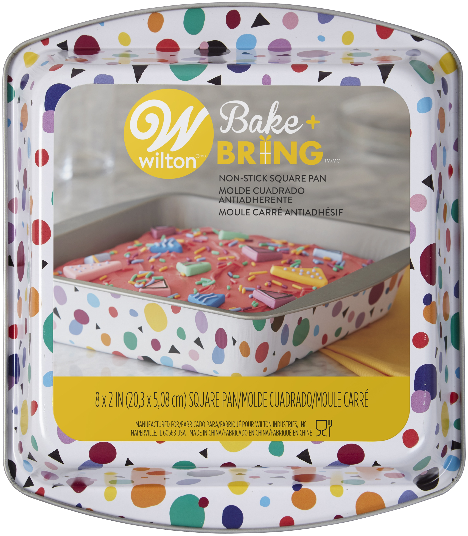 BAKE BRING CAKE PAN SQ GEO PRT