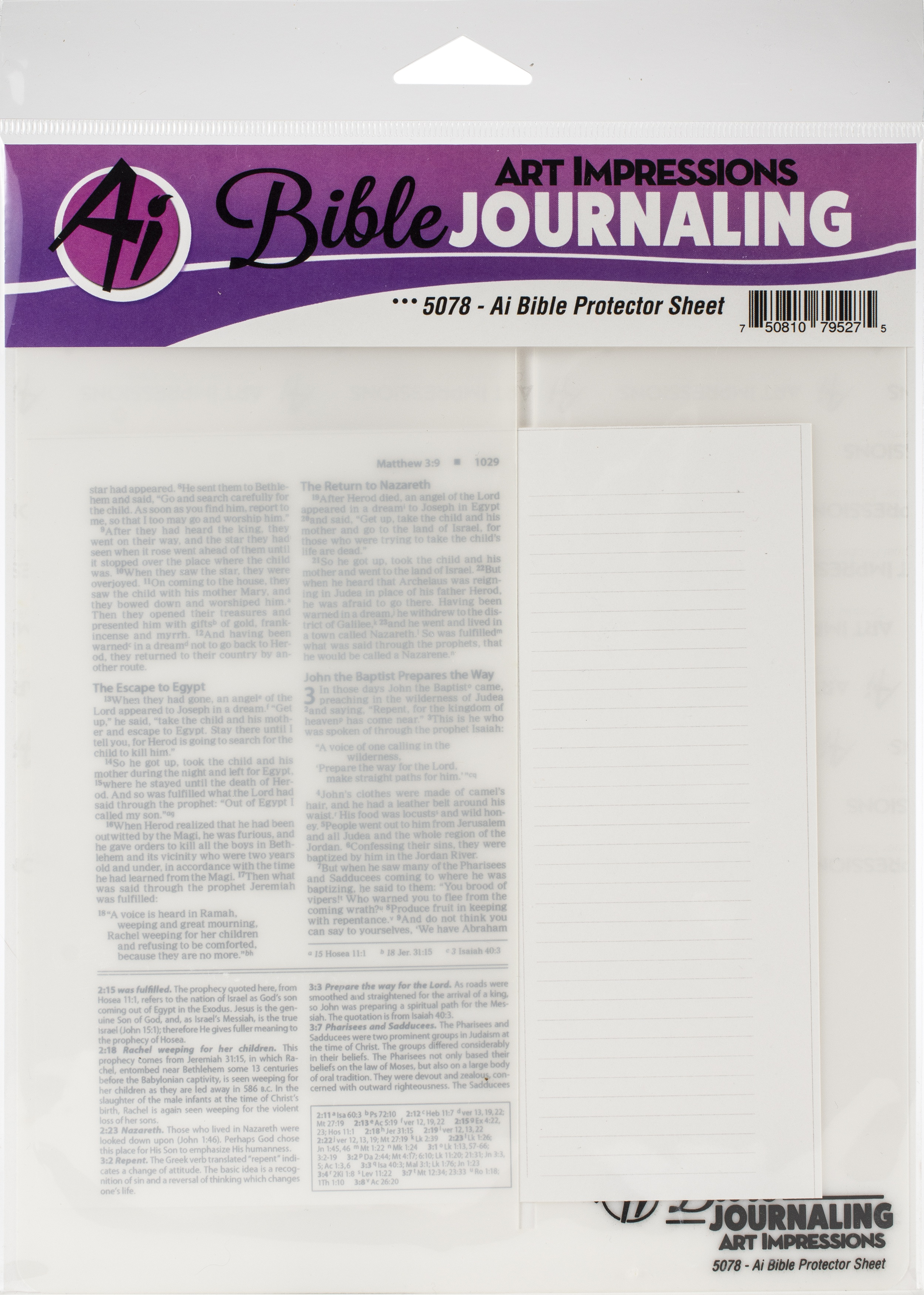 Art Impressions Bible Journaling Protector Sheet-Clear