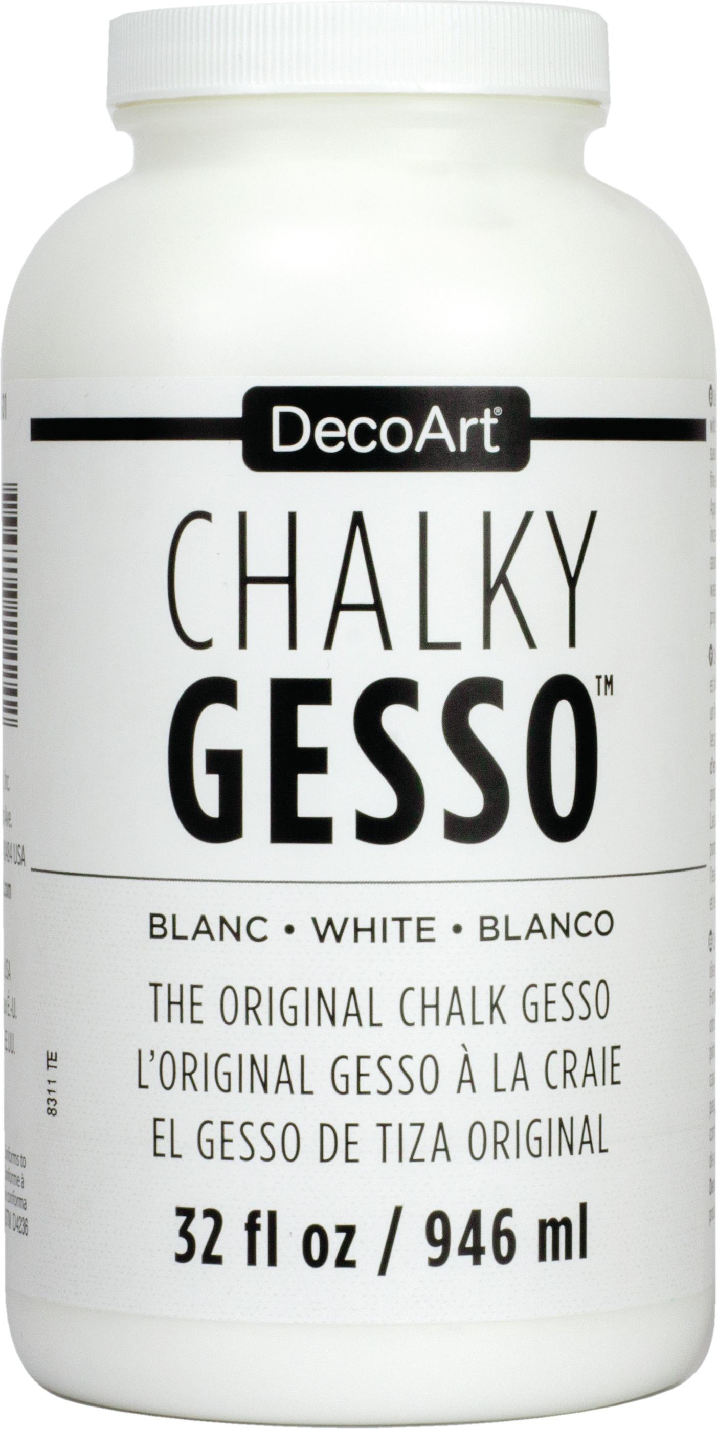 DecoArt Chalky Gesso Ultra-Matte Primer 32oz