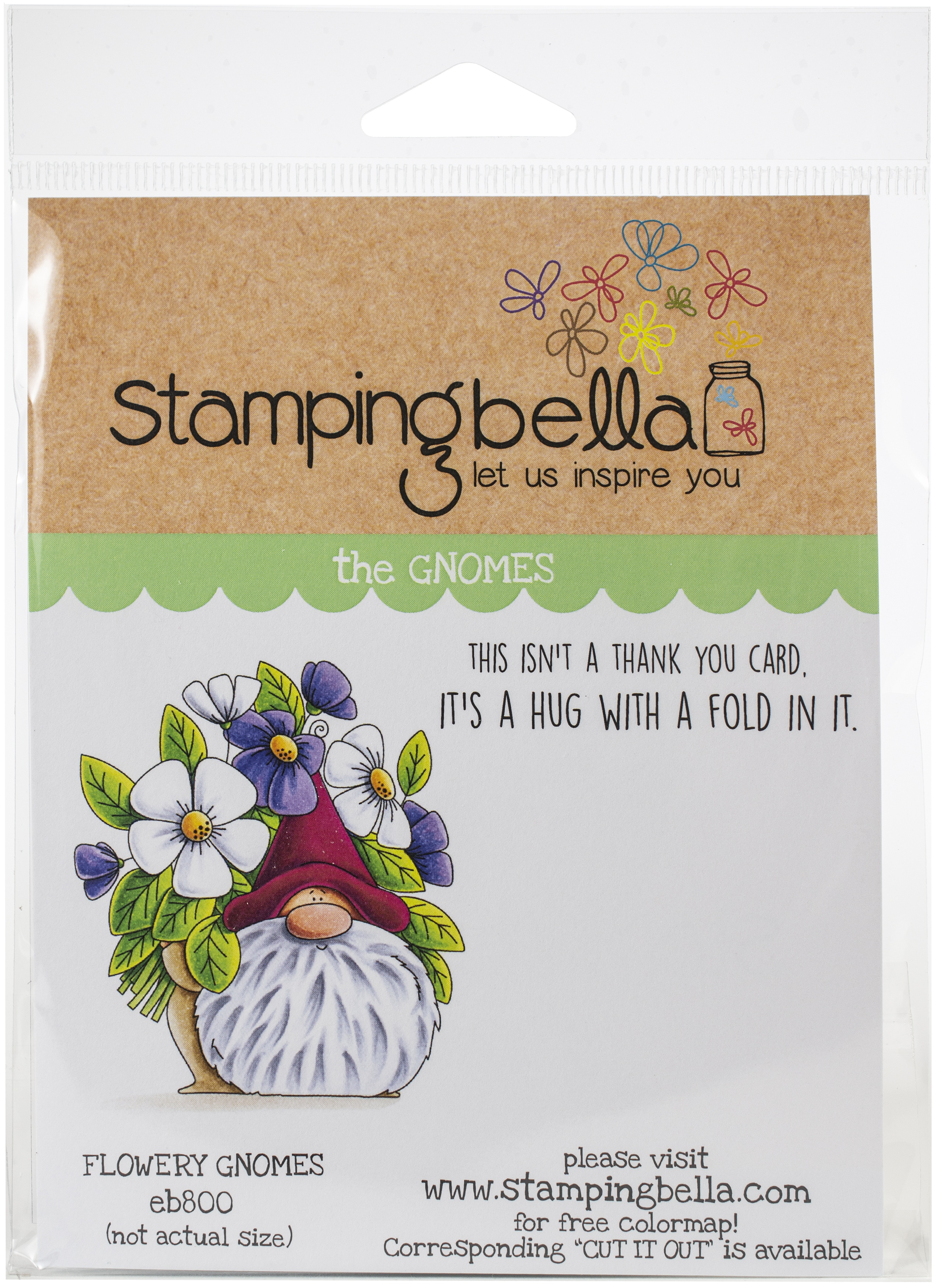 Flowery Gnome Stamp