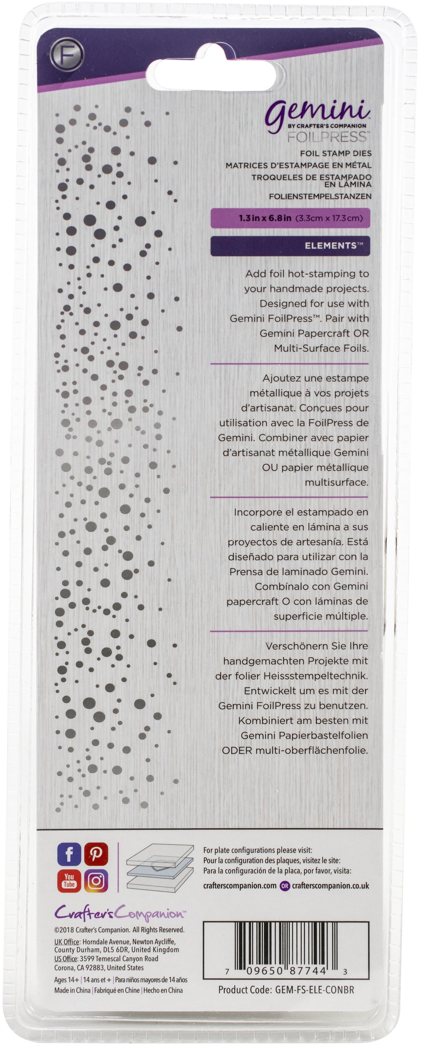 Gemini Foilpress Stamp Die Elements-Confetti Border