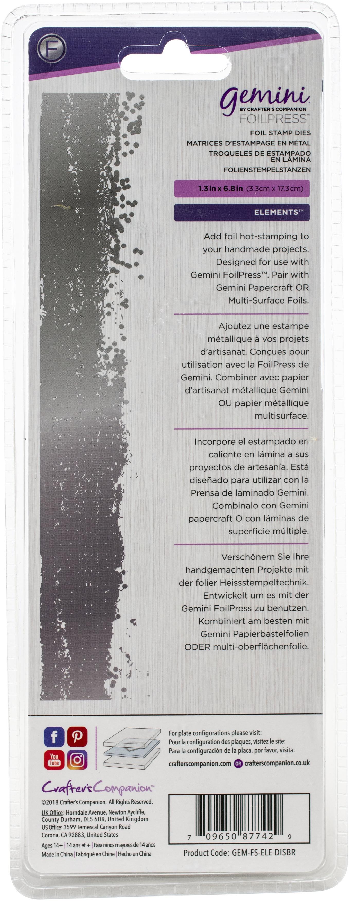 Gemini Foilpress Stamp Die Elements-Distress Border