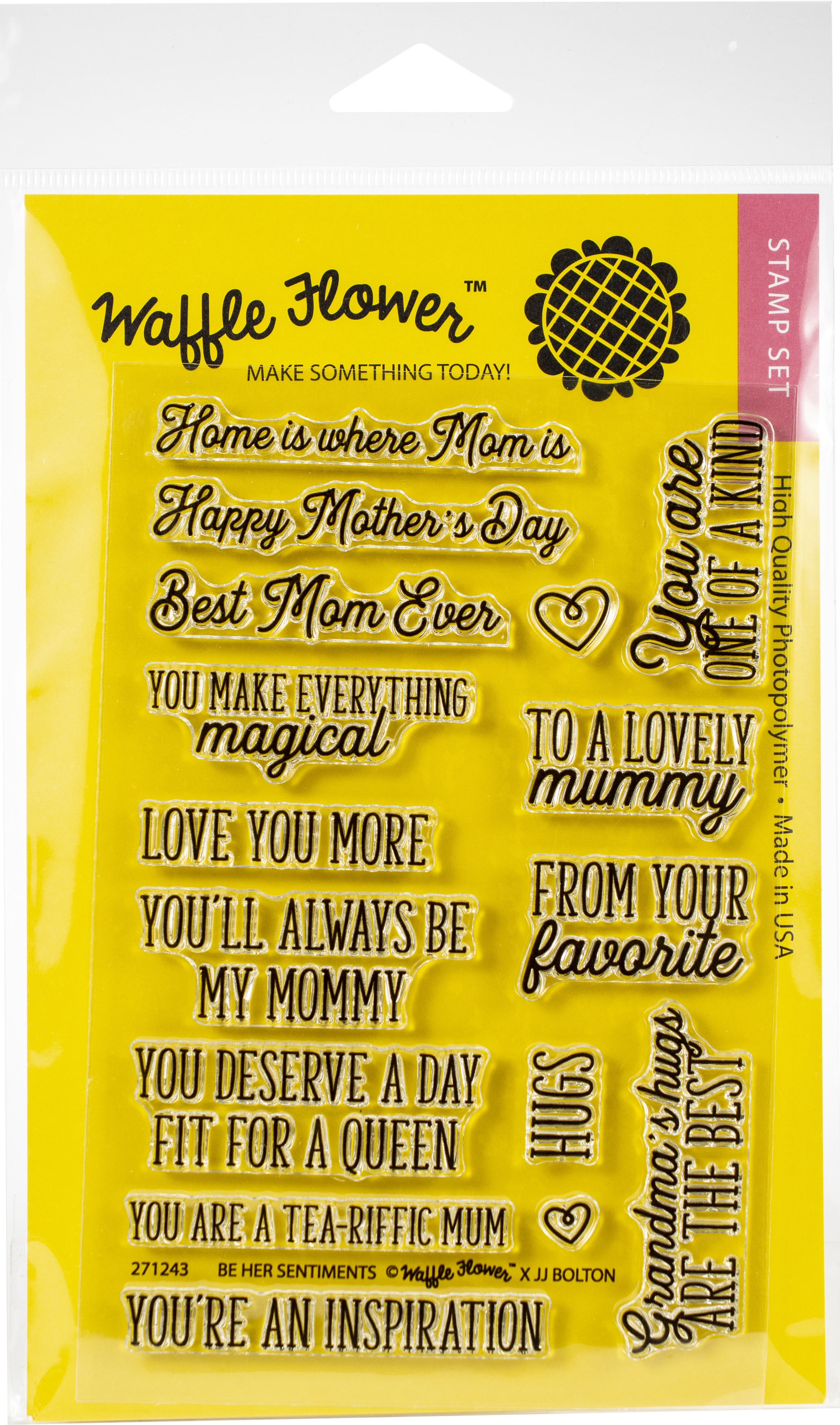 Waffle Flower Crafts Clear Stamps 4X6-Be Her Sentiments