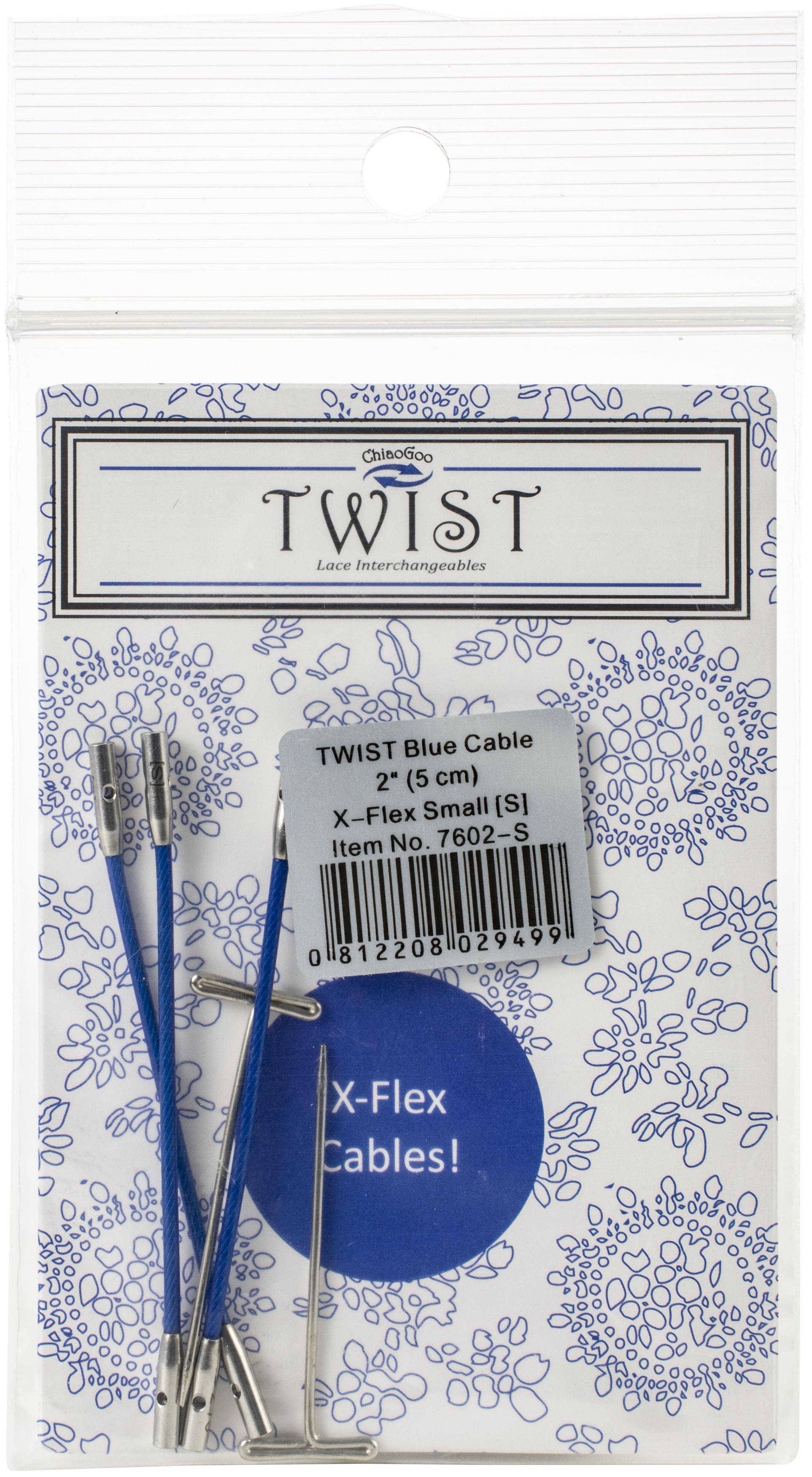 ChiaoGoo TWIST X-Flex Cable Small Diameter 2-Blue
