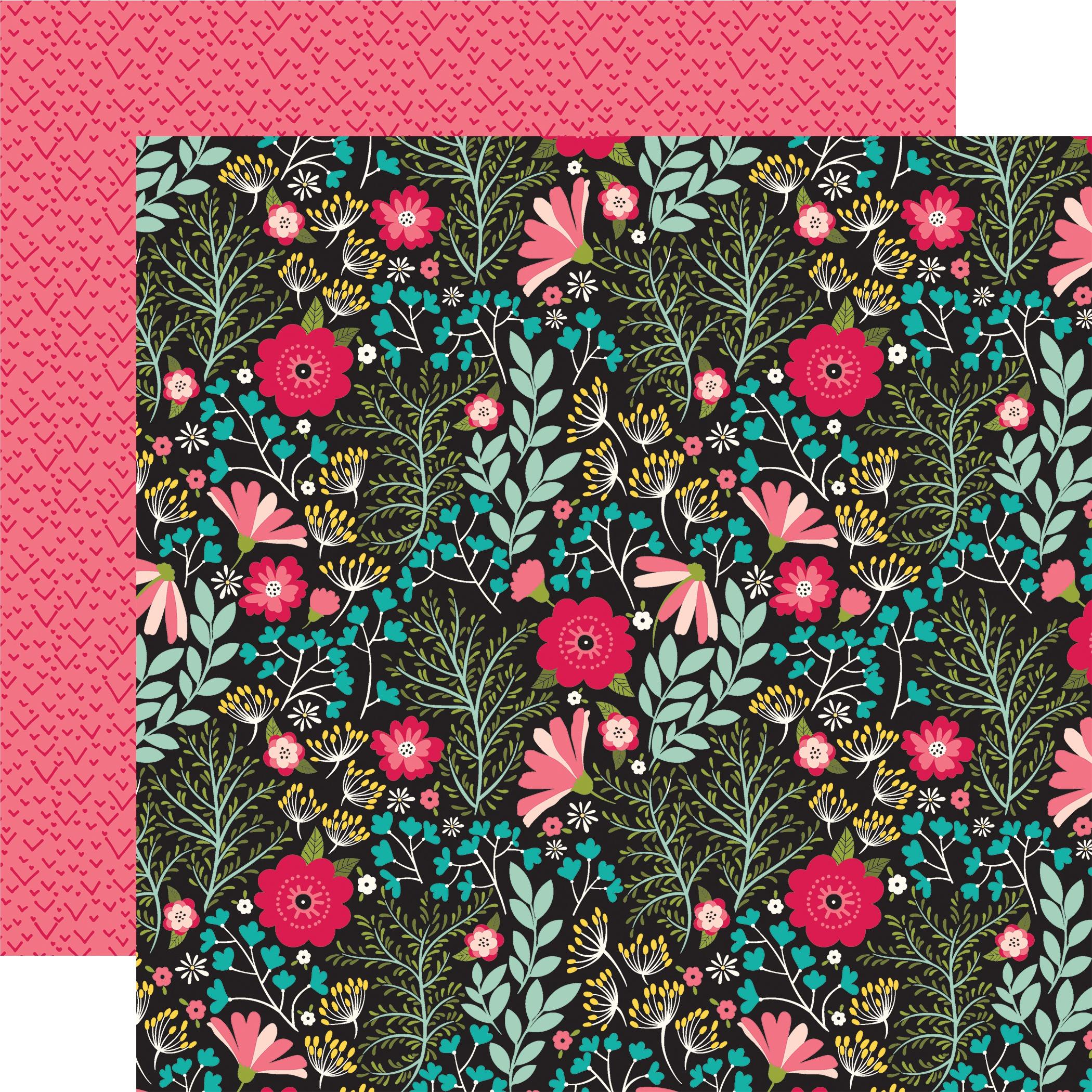 Forward With Faith Double-Sided Cardstock 12X12-Floral Faith