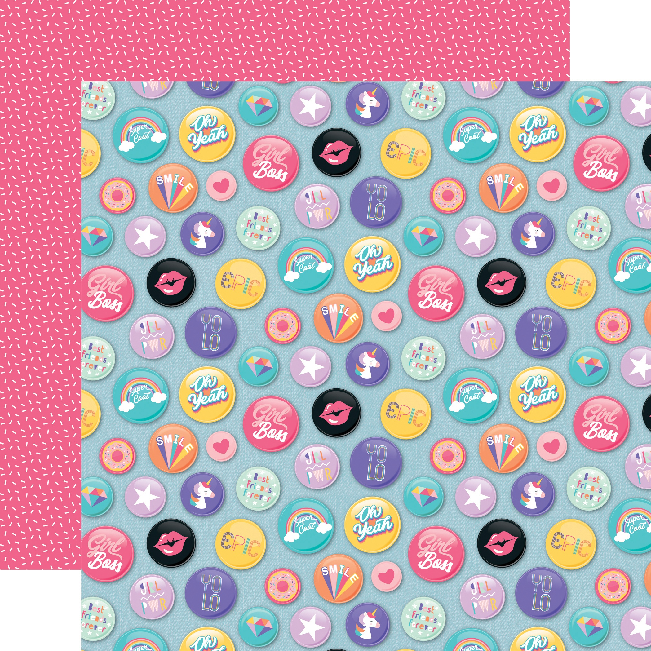 EP Teen Spirit Girl Epic Buttons
