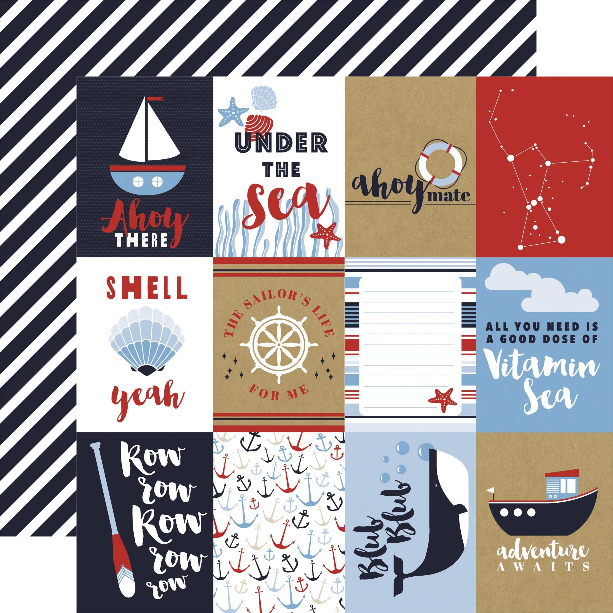 Deep Blue Sea 3x4 Journaling Cards