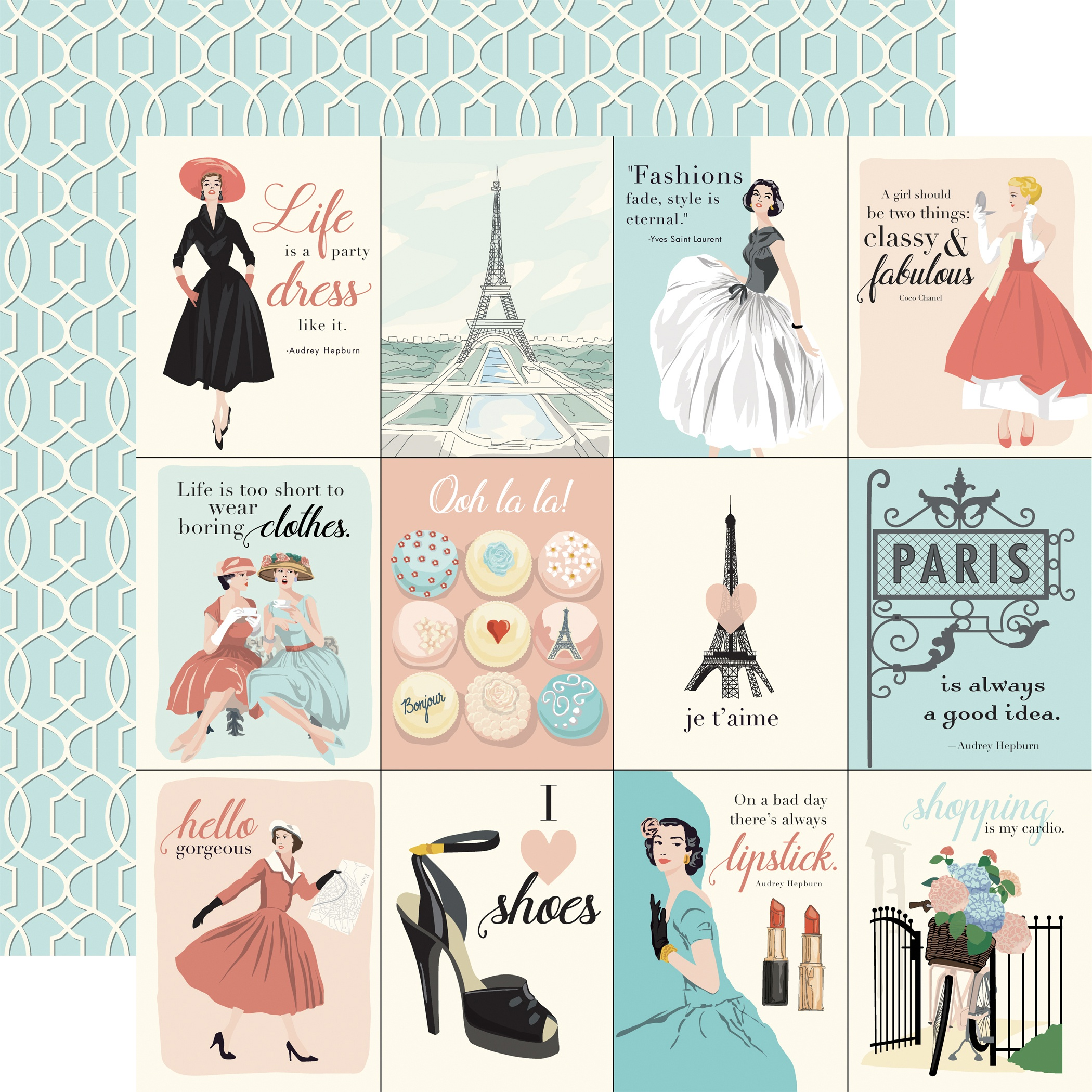 En Vogue Double-Sided Cardstock 12X12-3X4 Journaling Cards