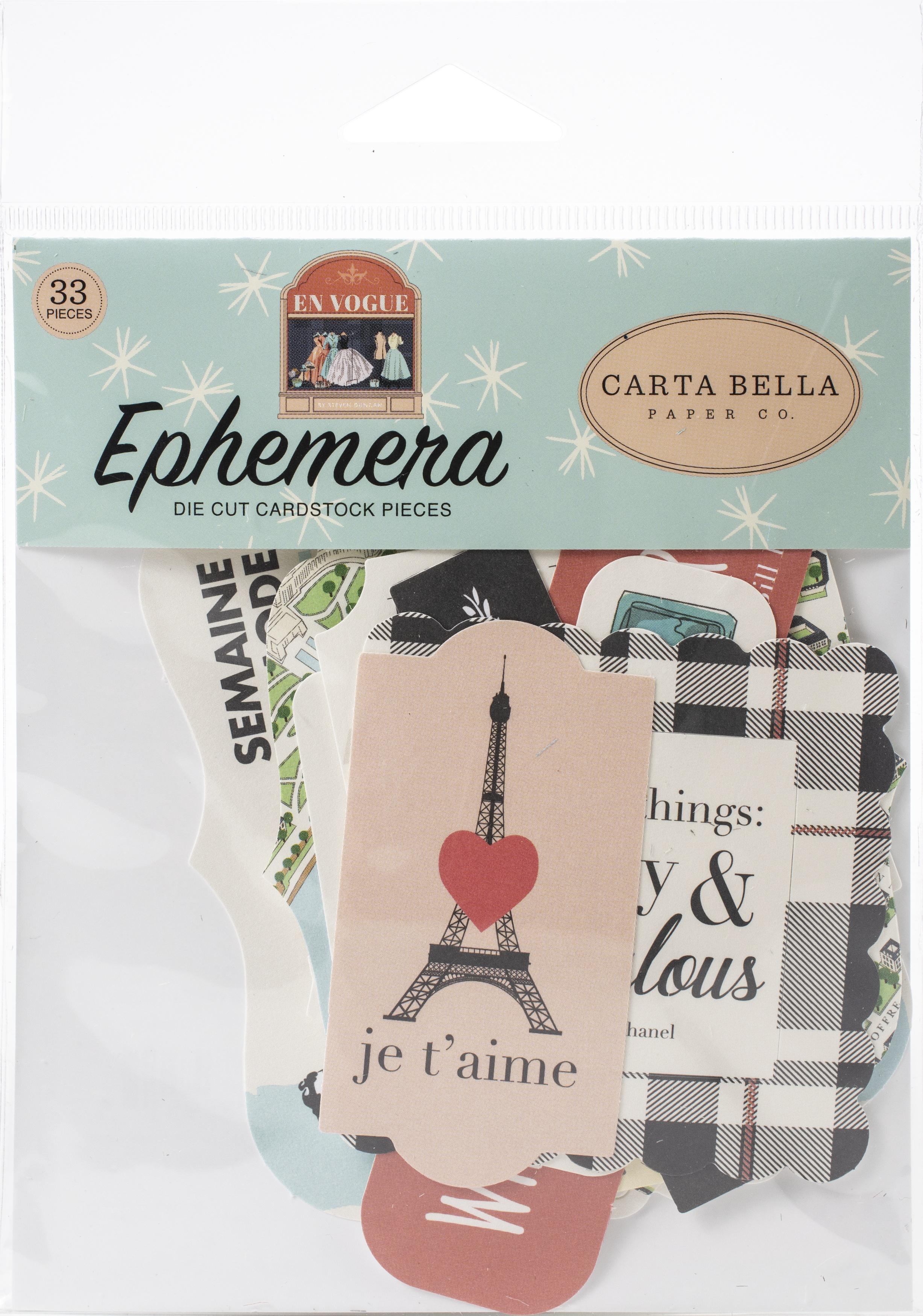 Carta Bella Cardstock Ephemera 33/Pkg-Icons, En Vogue