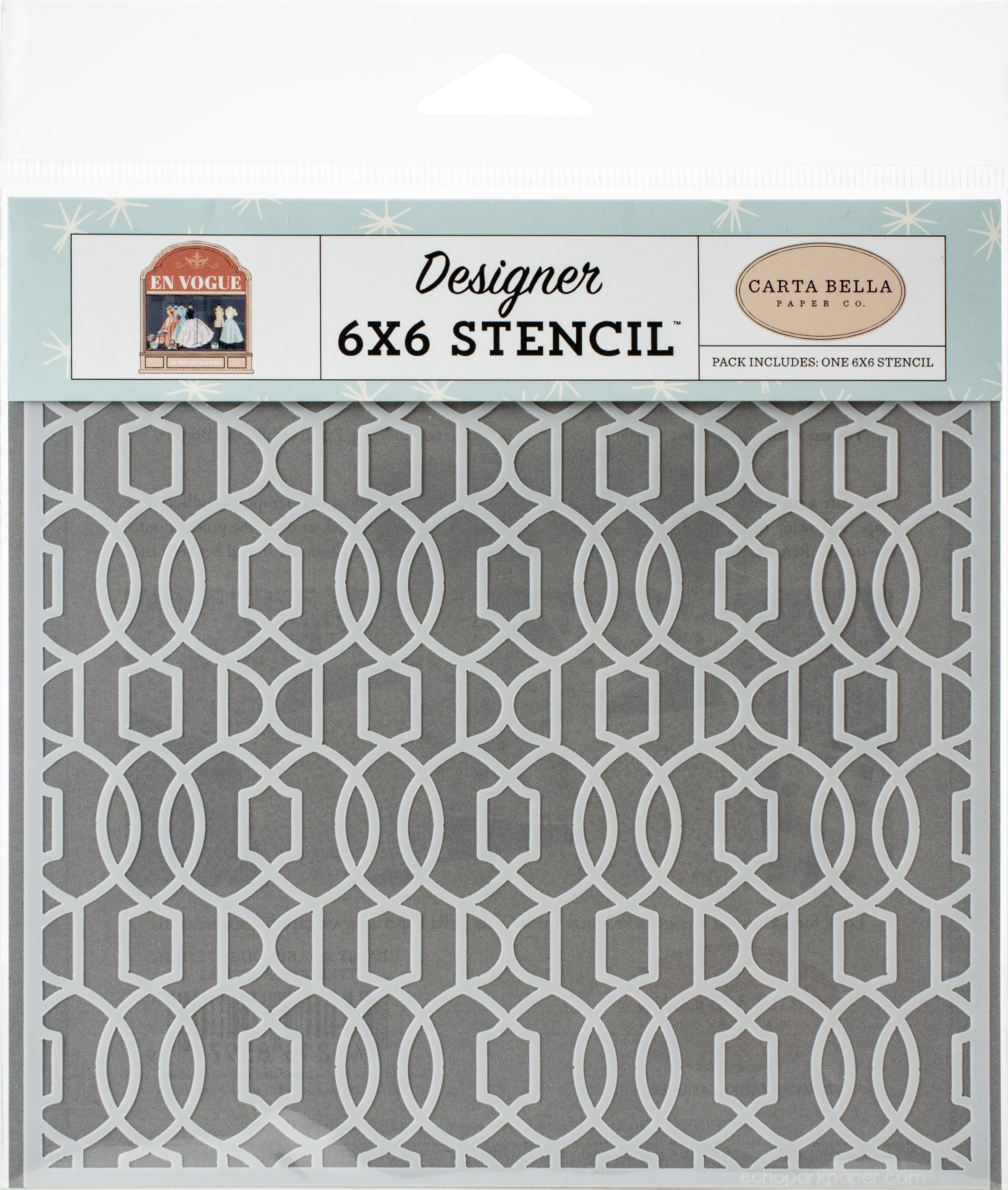 Carta Bella Stencil 6X6-Classy & Fabulous