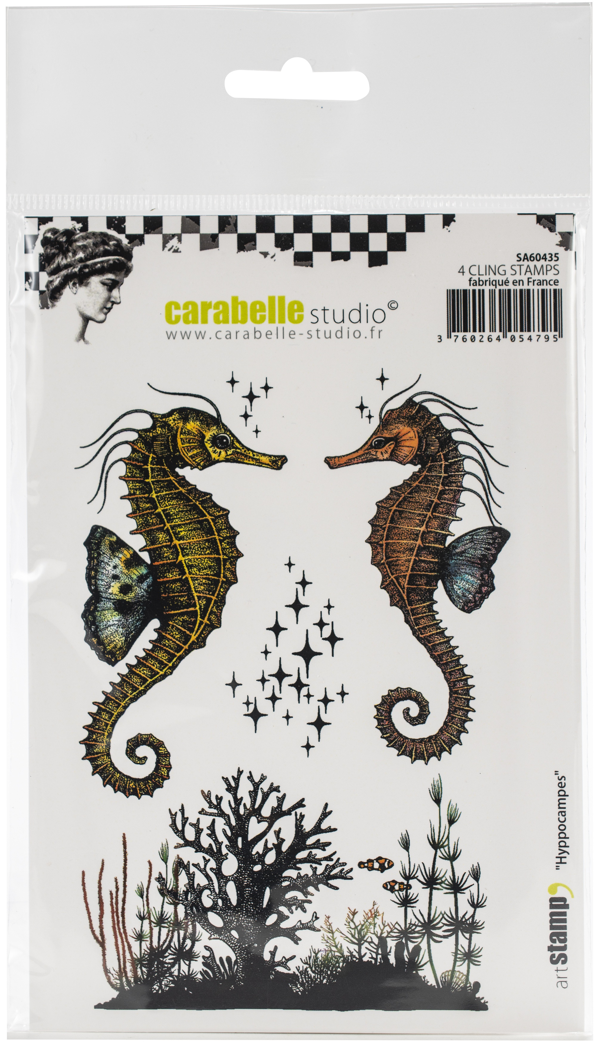 Carabelle Studio Cling Stamp A6-Seahorses