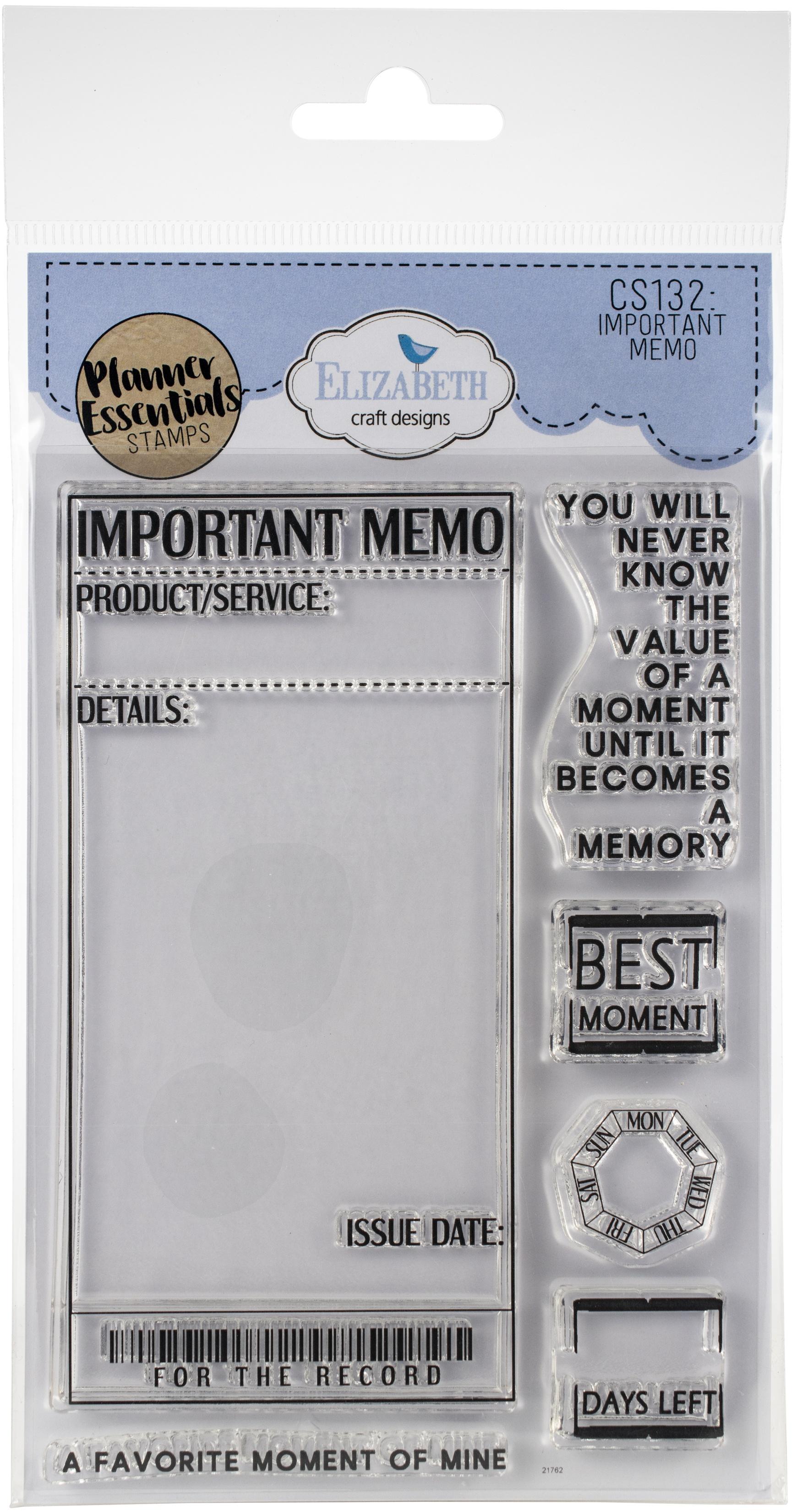 EC - Important Memo Stamp Set