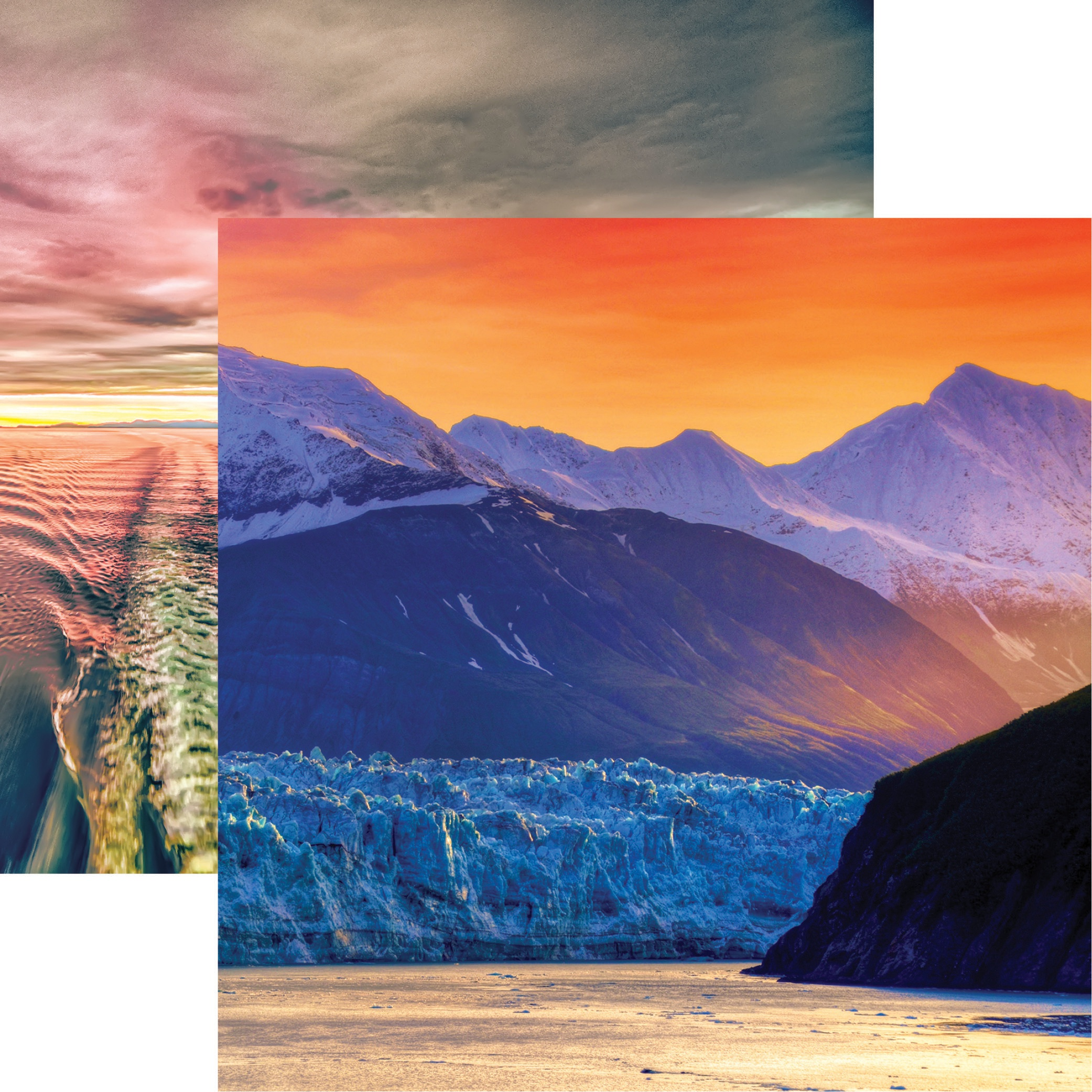 Alaska Cruise Double-Sided Cardstock 12X12-Alaskan Sunrise