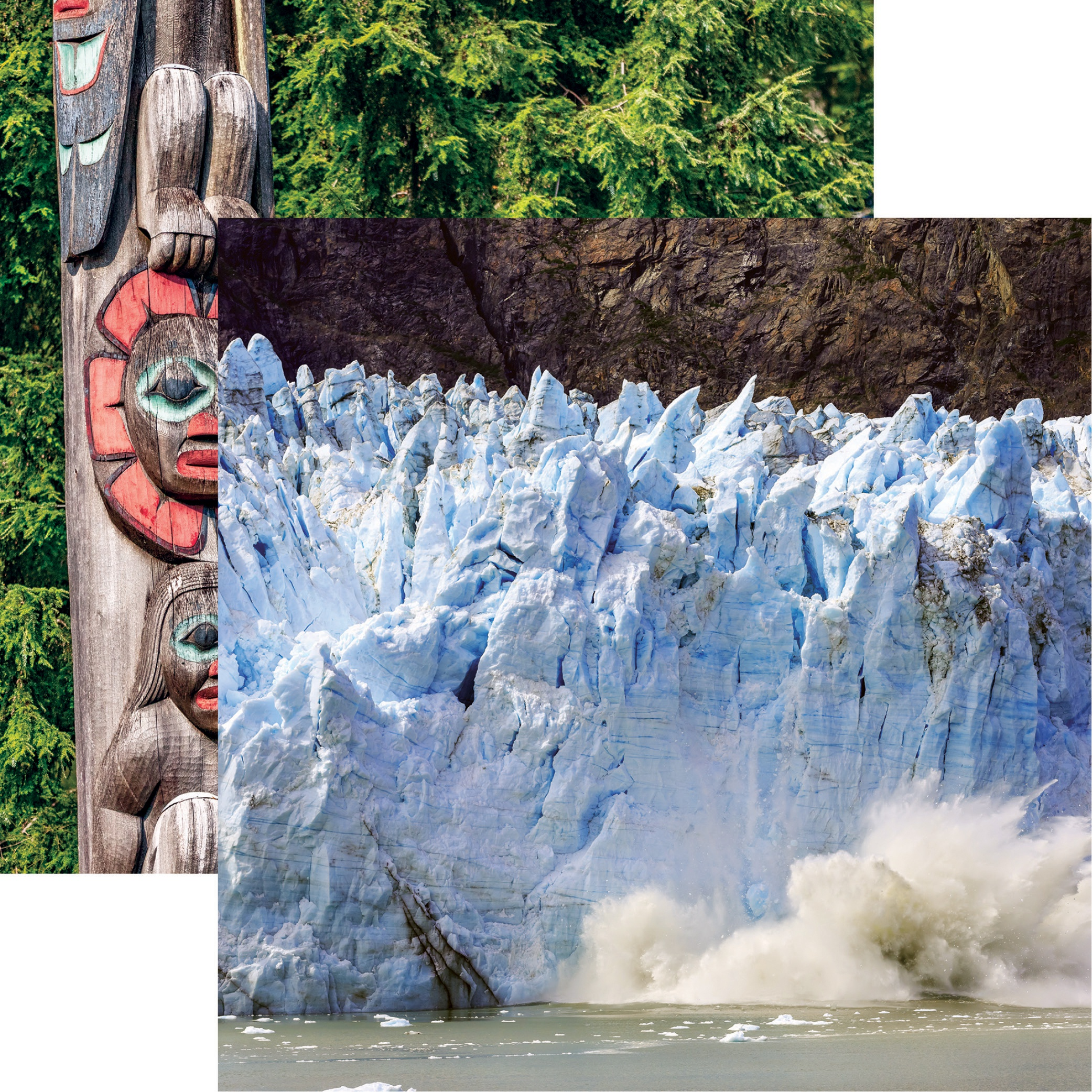 Alaska Cruise Double-Sided Cardstock 12X12-Calving Glacier