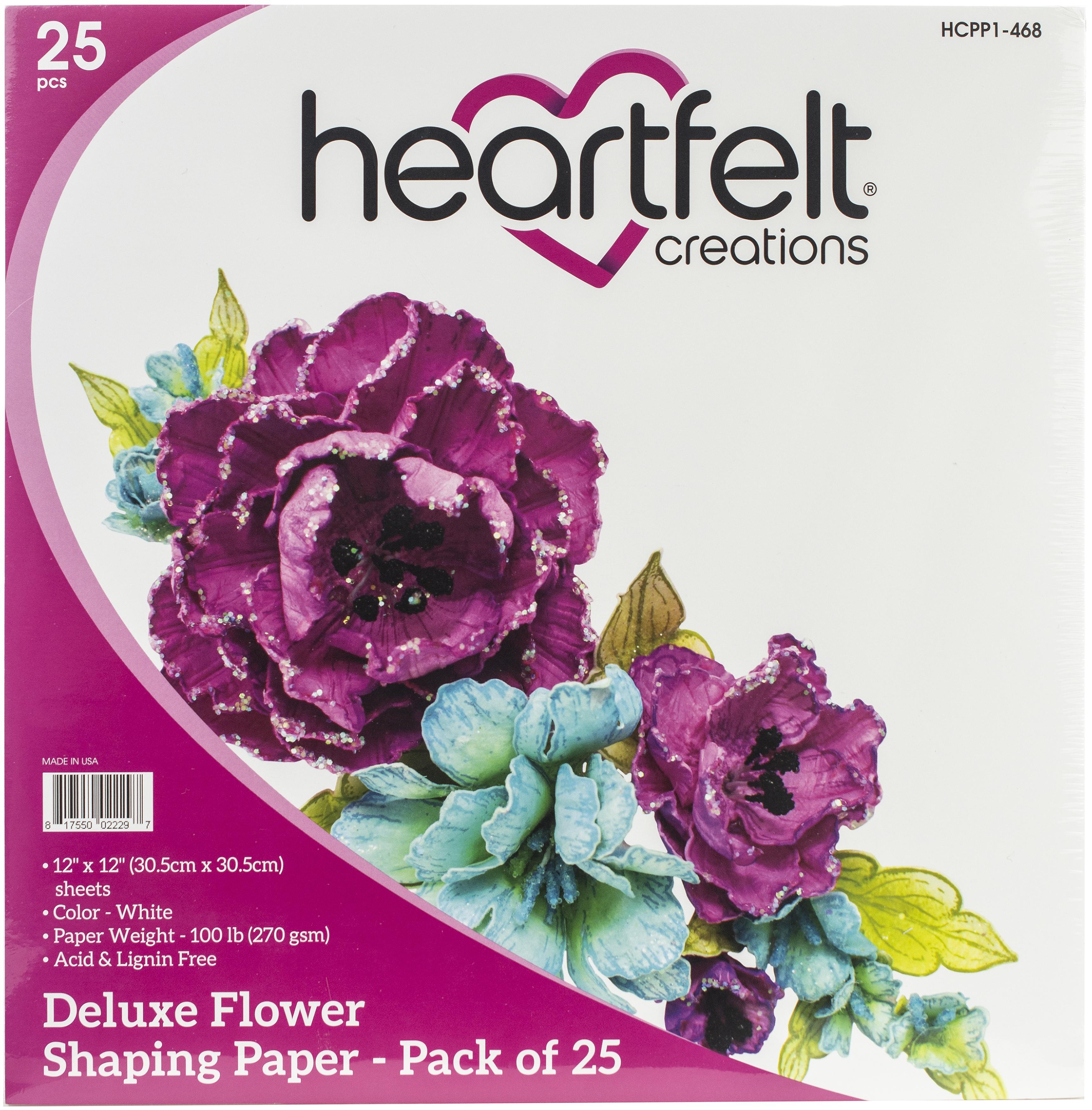Heartfelt Creations Flower Shaping Paper White