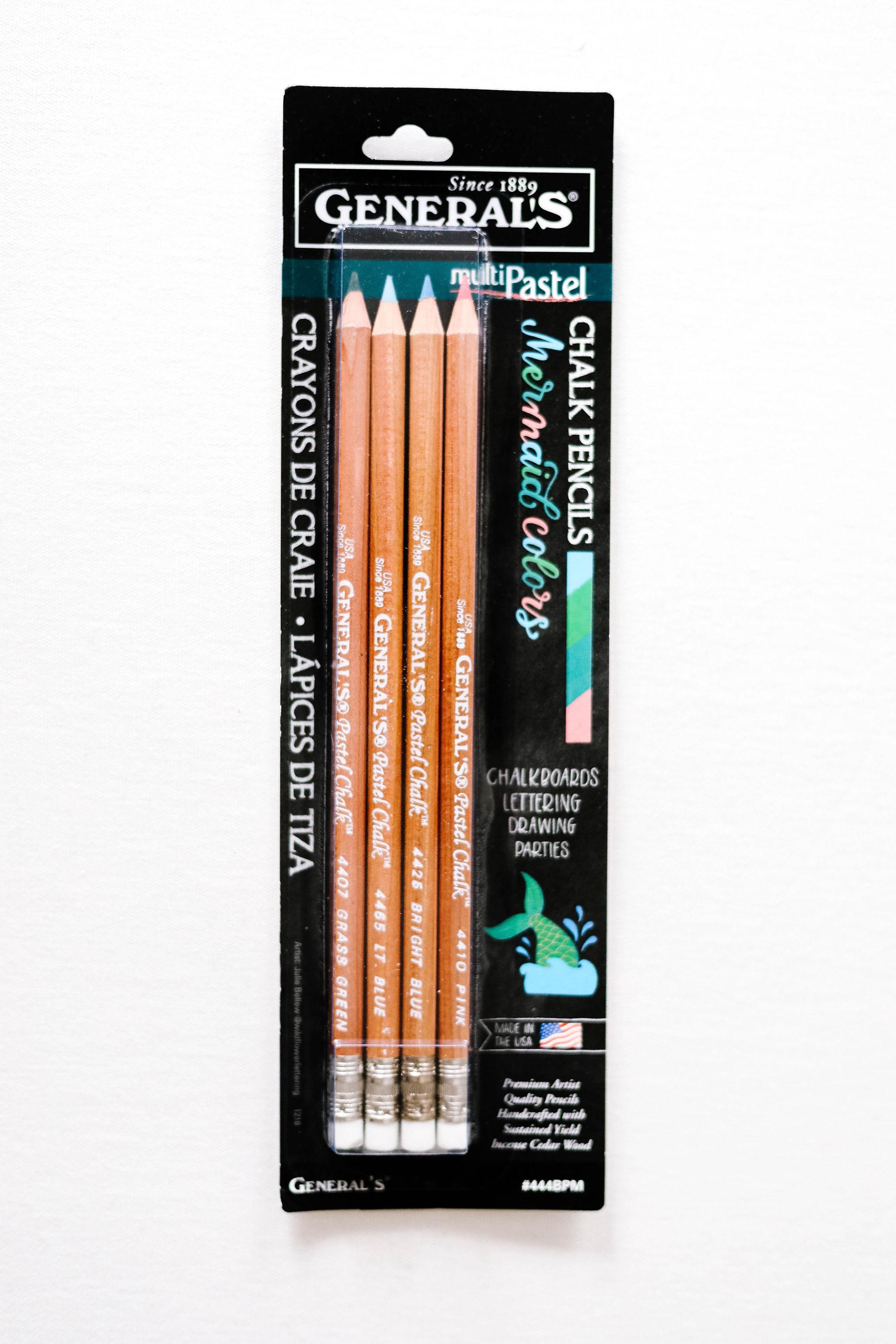MultiPastel (R) Chalk Pencils 4/Pkg-Mermaid Colors