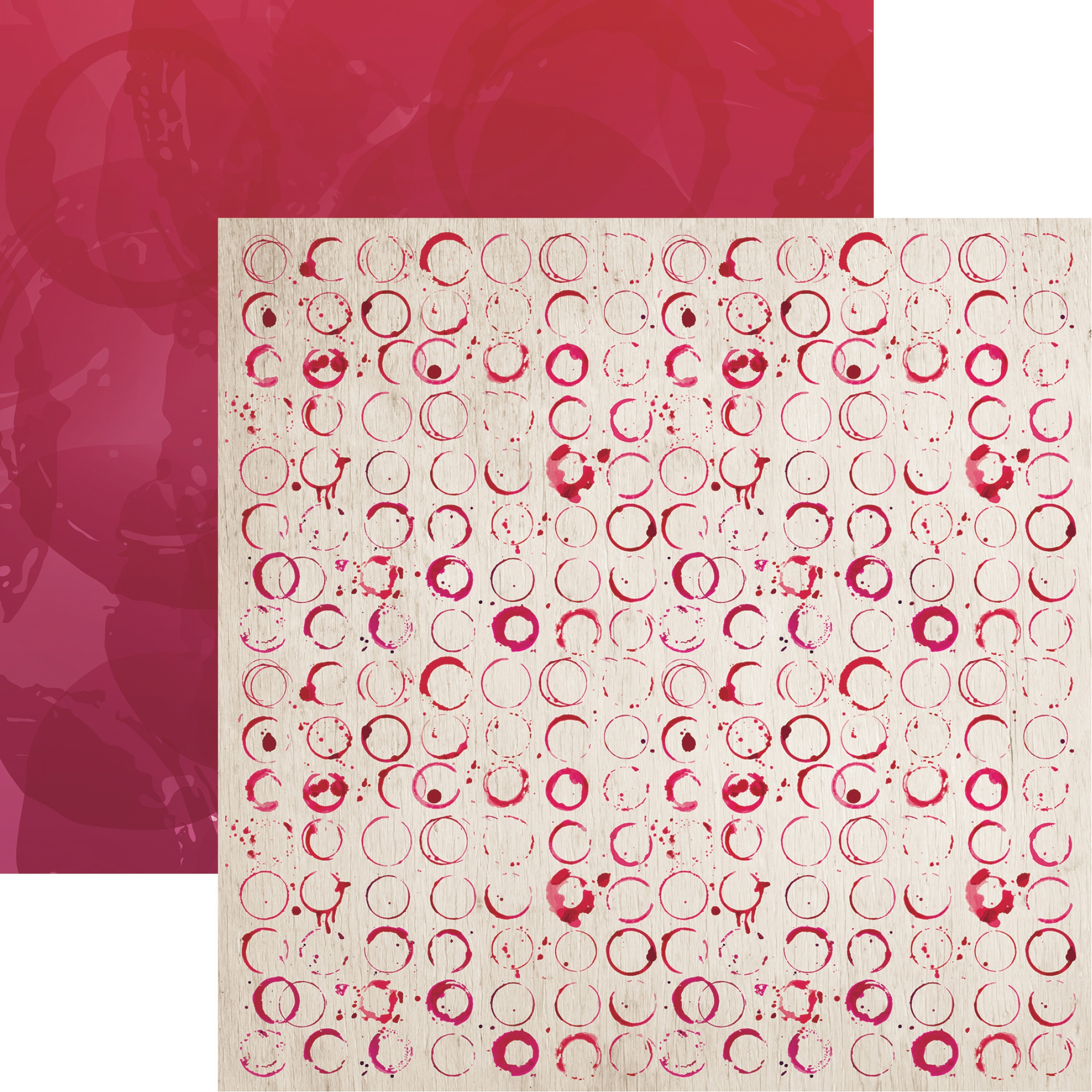 Rose All Day Double-Sided Cardstock 12X12-Wine Time
