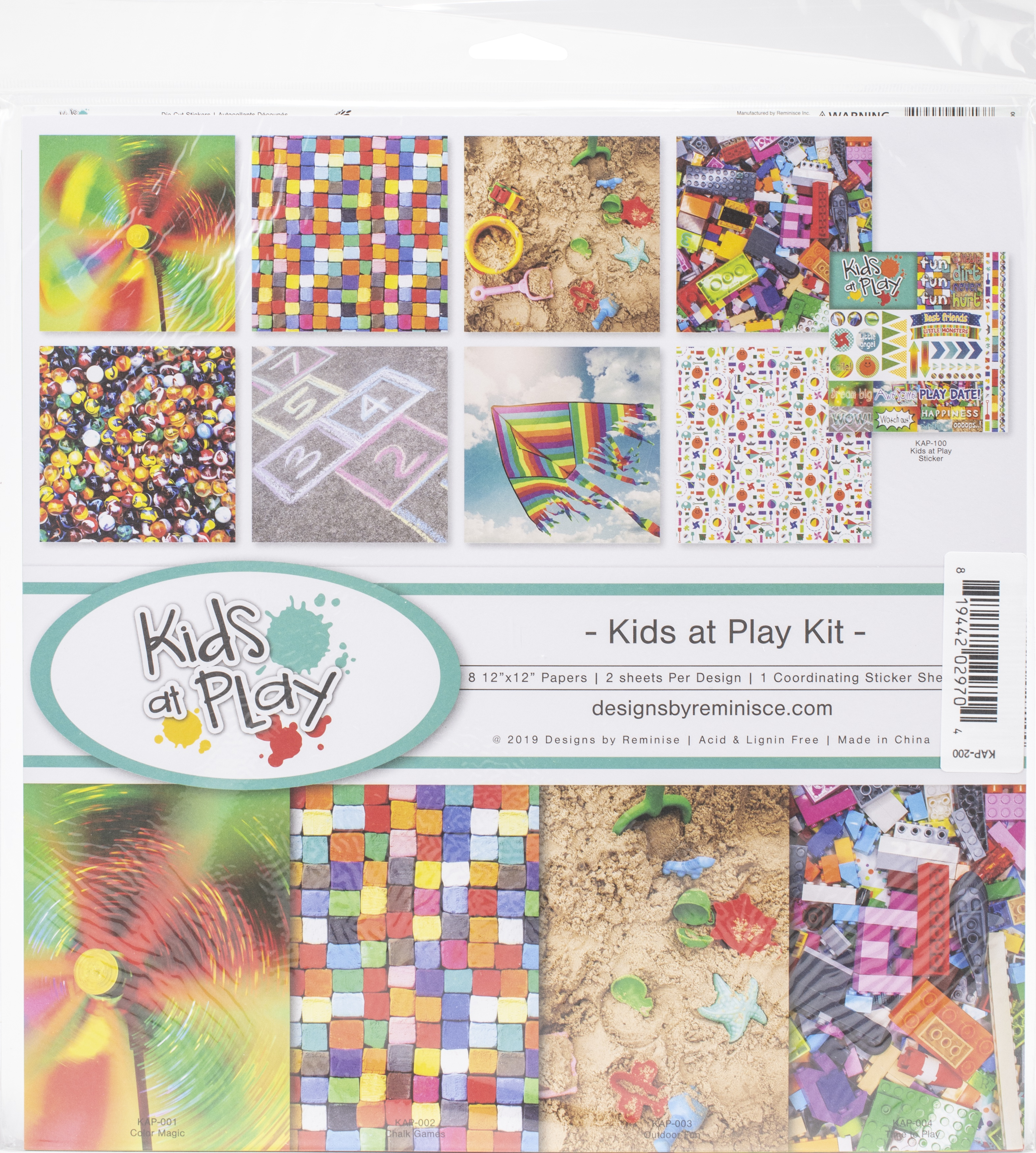 Reminisce Collection Kit 12X12-Kids At Play