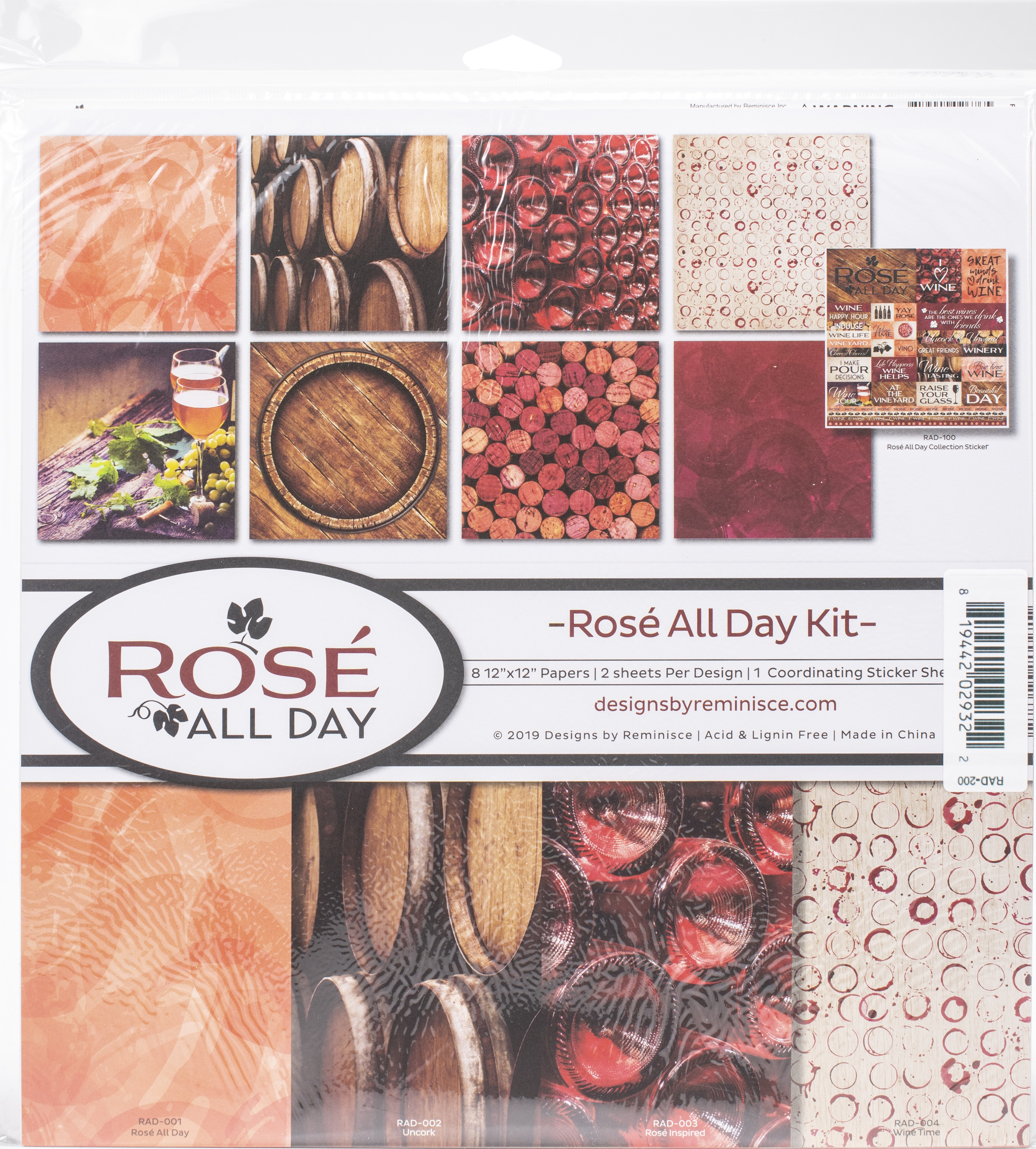 Reminisce Collection Kit 12X12-Rose All Day