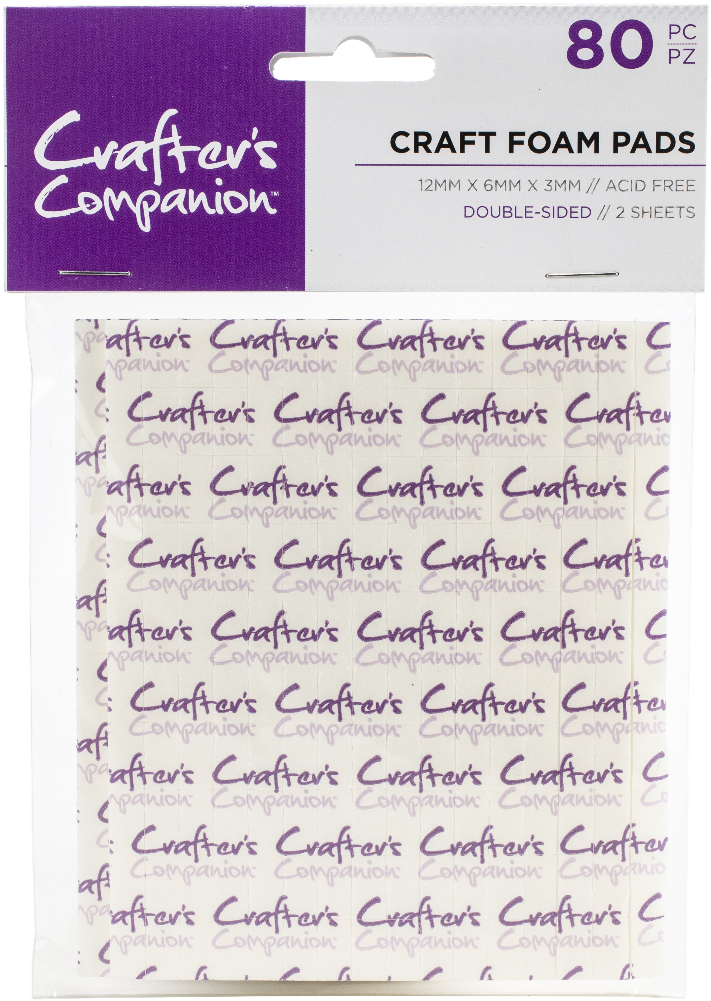 Crafter's Companion Craft Double-Sided Craft Foam Pads -80pcs
