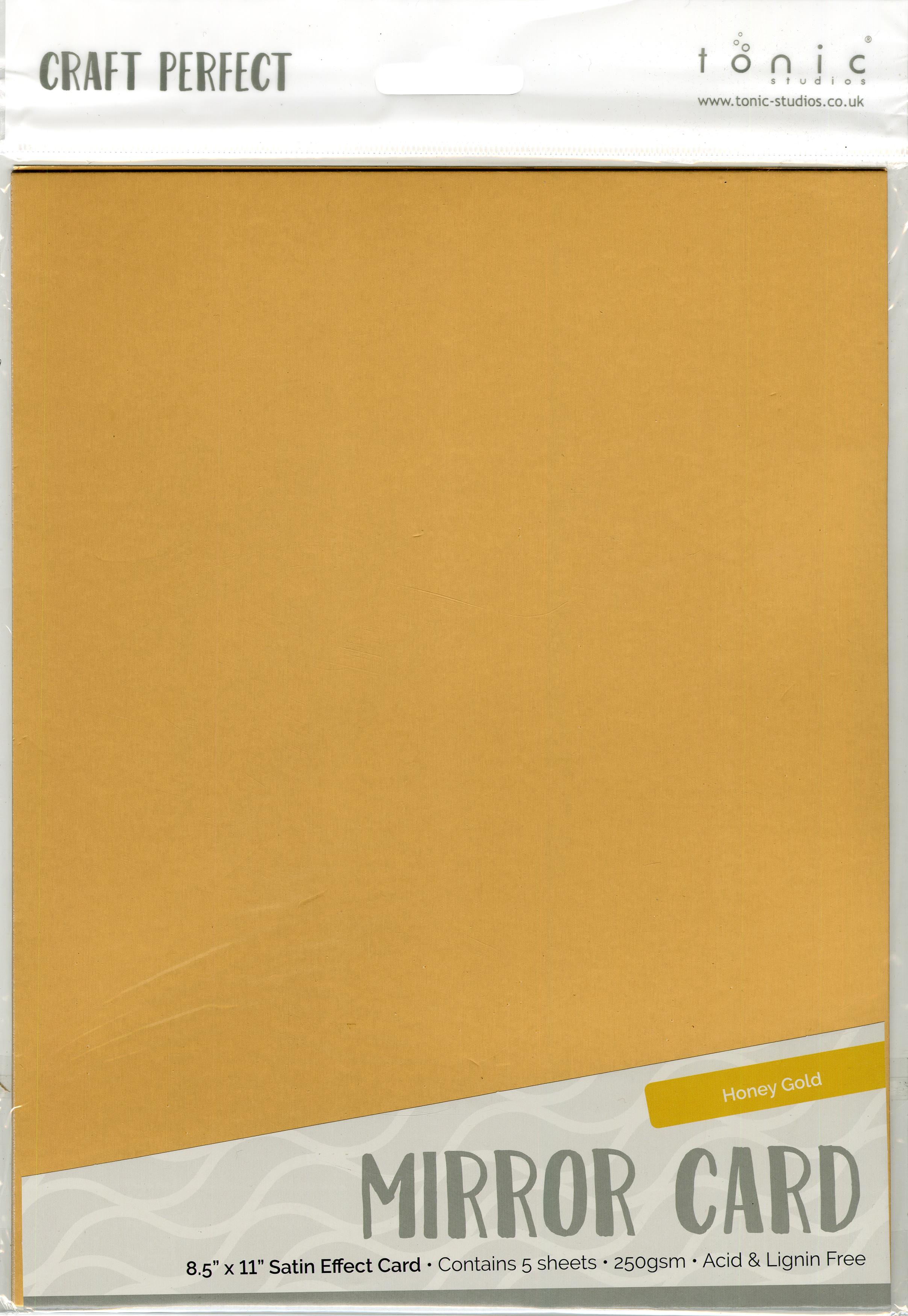 Mirror Cardstock Satin Honey Gold