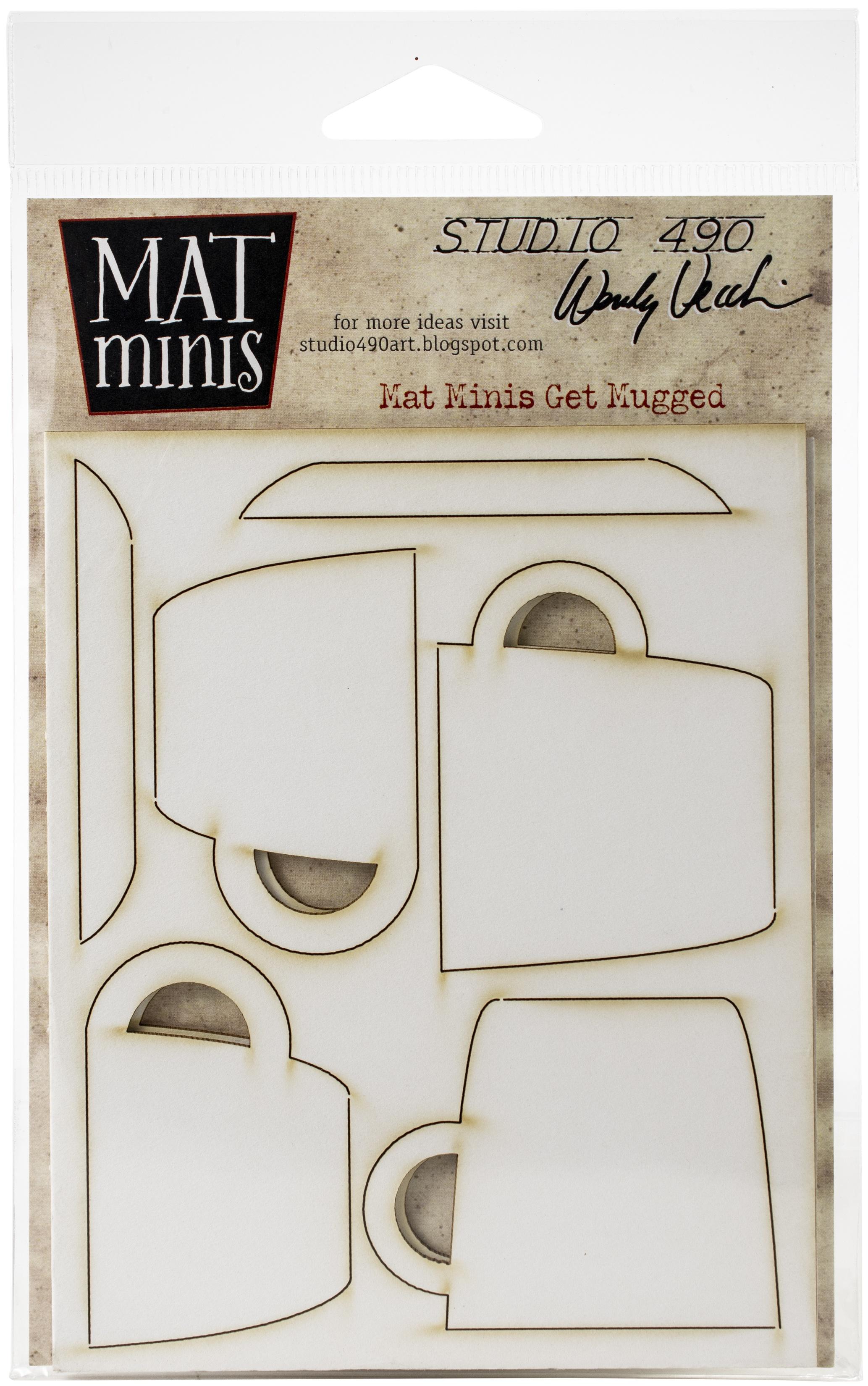 Studio 490 - Wendy Vecchi Laser Cut Mat Minis - Get Mugged