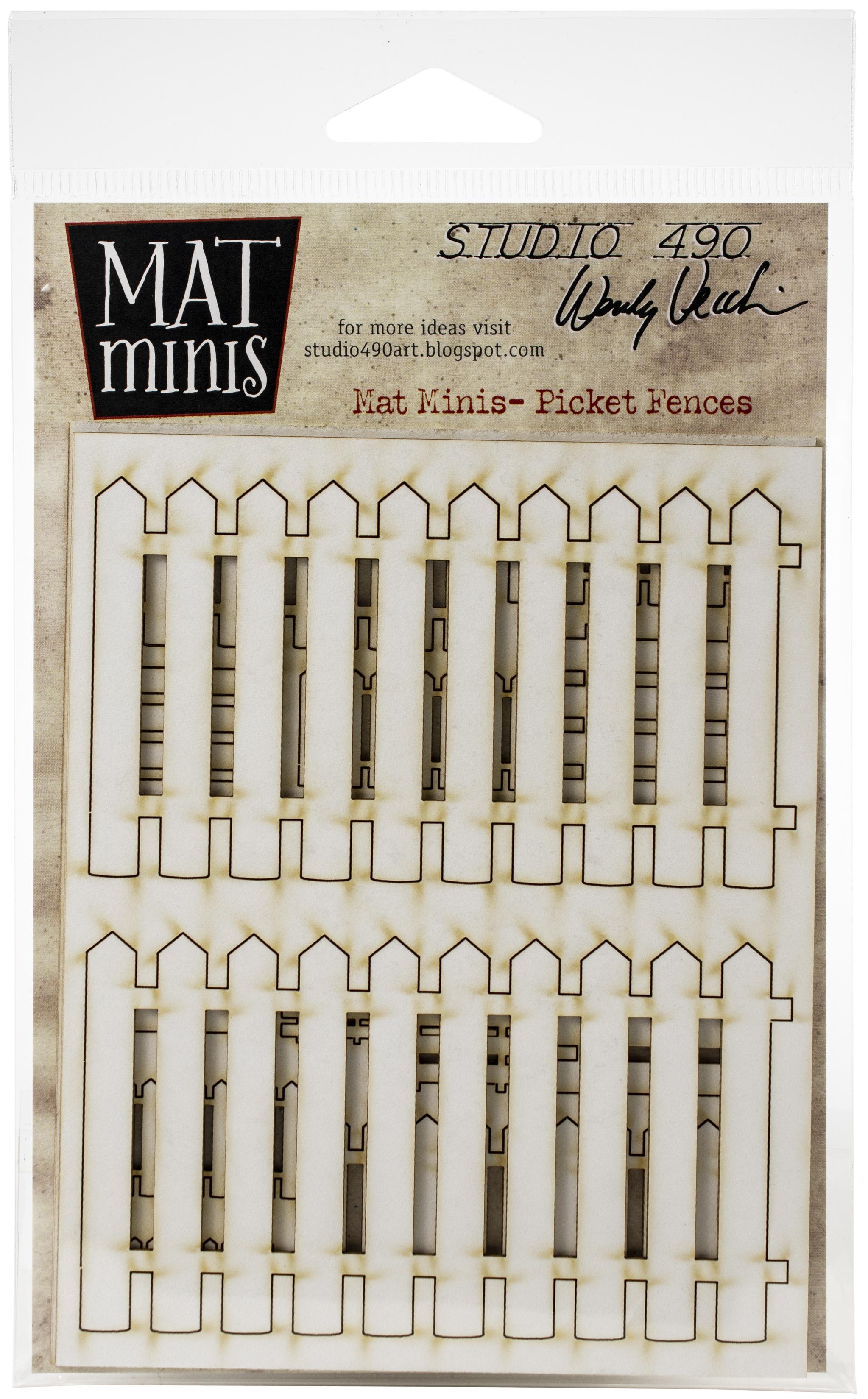 ^Studio 490 - Wendy Vecchi Laser Cut Mat Minis - Picket Fences