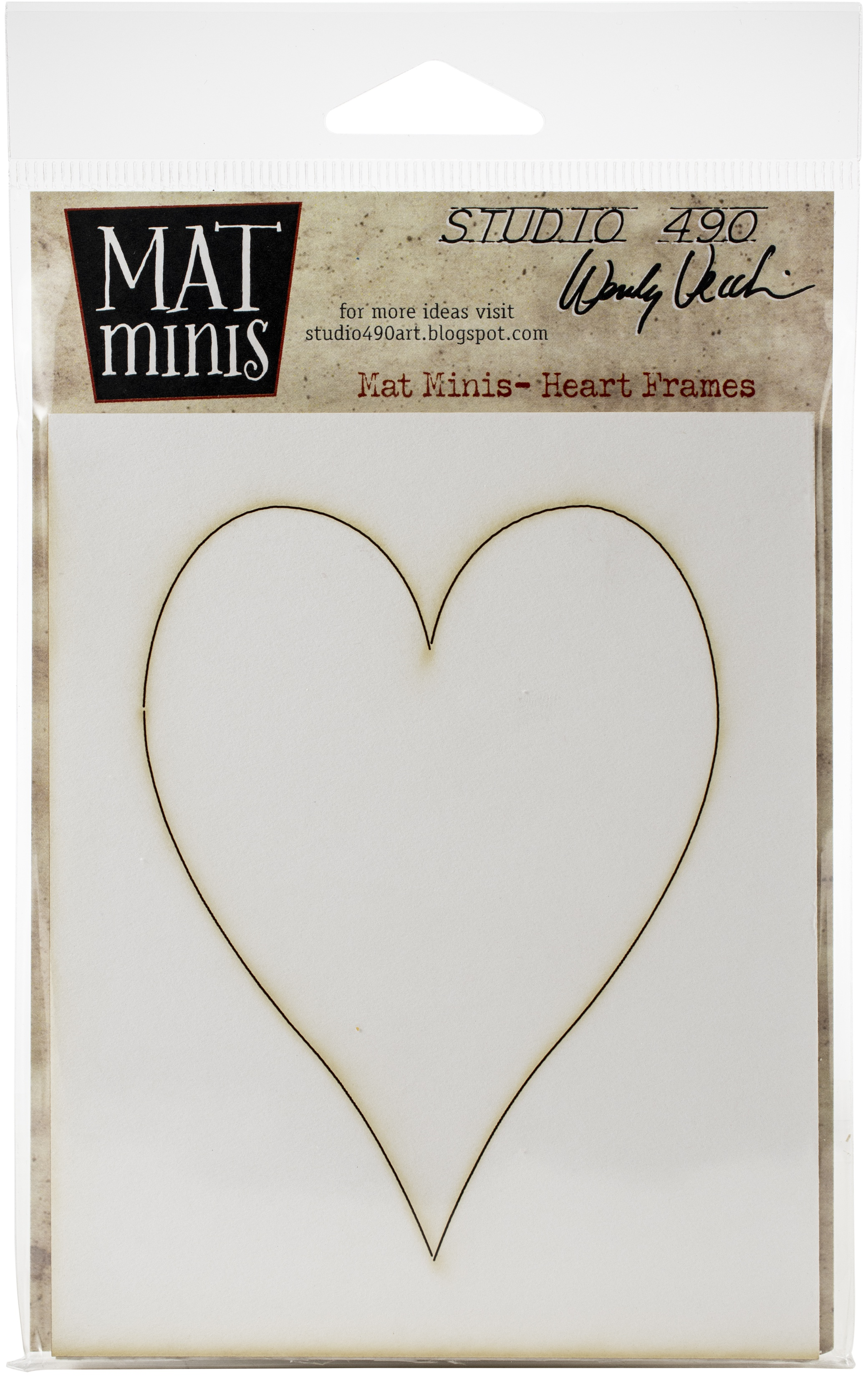 Studio 490 Wendy Vecchi Laser Cut Mat Minis-Heart Frames