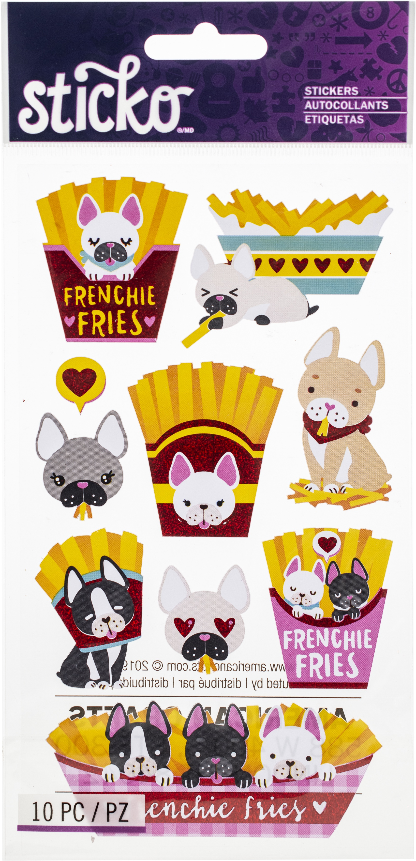 Sticko Classic Stickers-Frenchie Fries