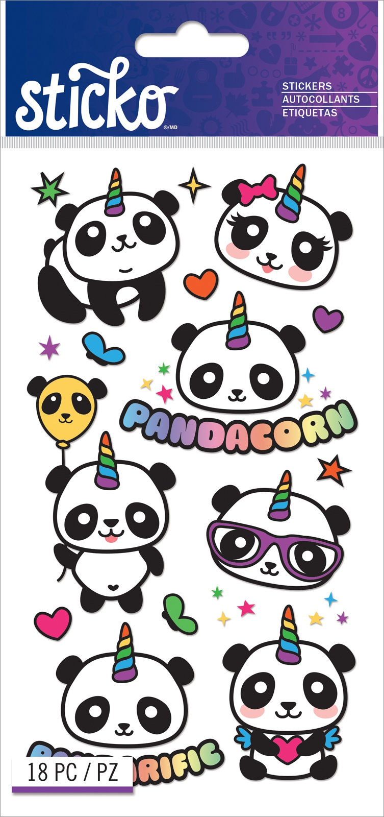 Sticko Classic Stickers-Pandacorn