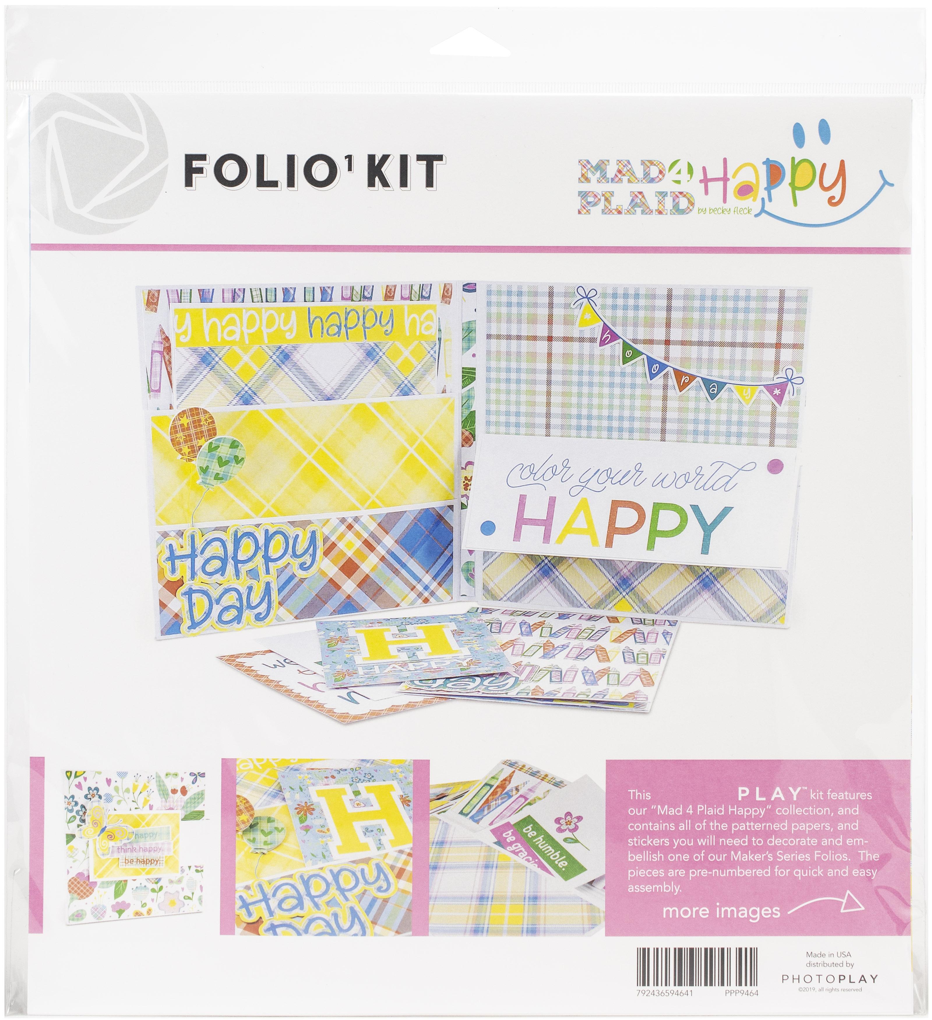 PhotoPlay Folio Kit-Mad 4 Plaid Happy